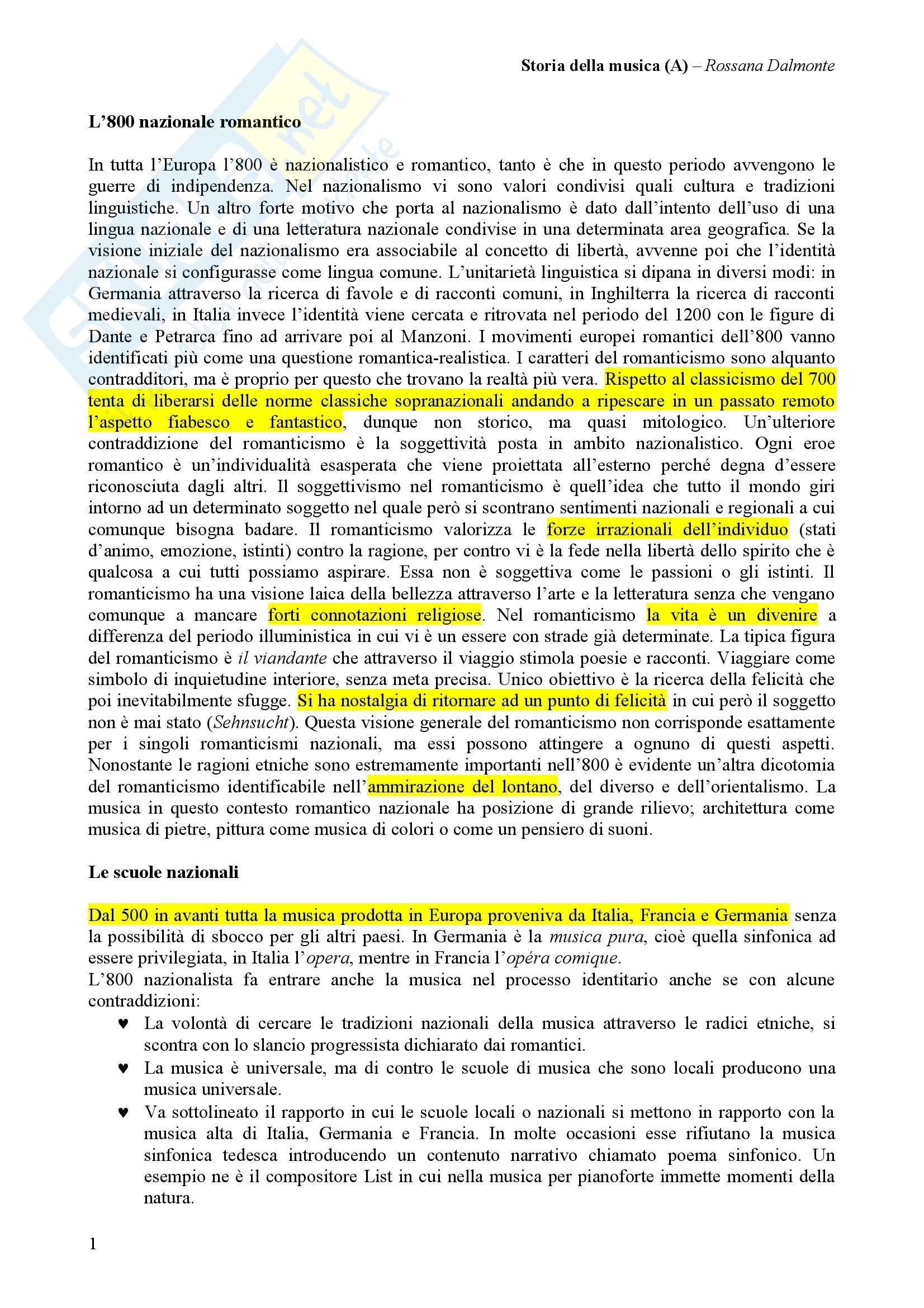Storia della musica - Dalmonte