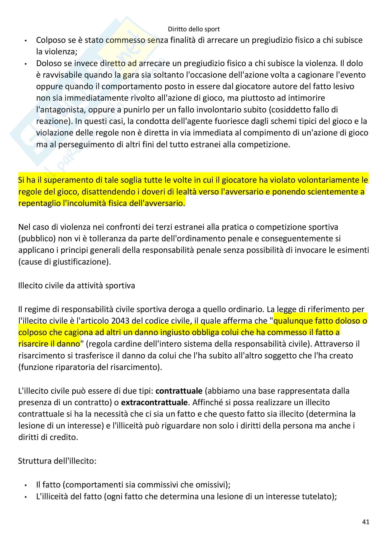 Appunti Diritto dello Sport Pag. 41