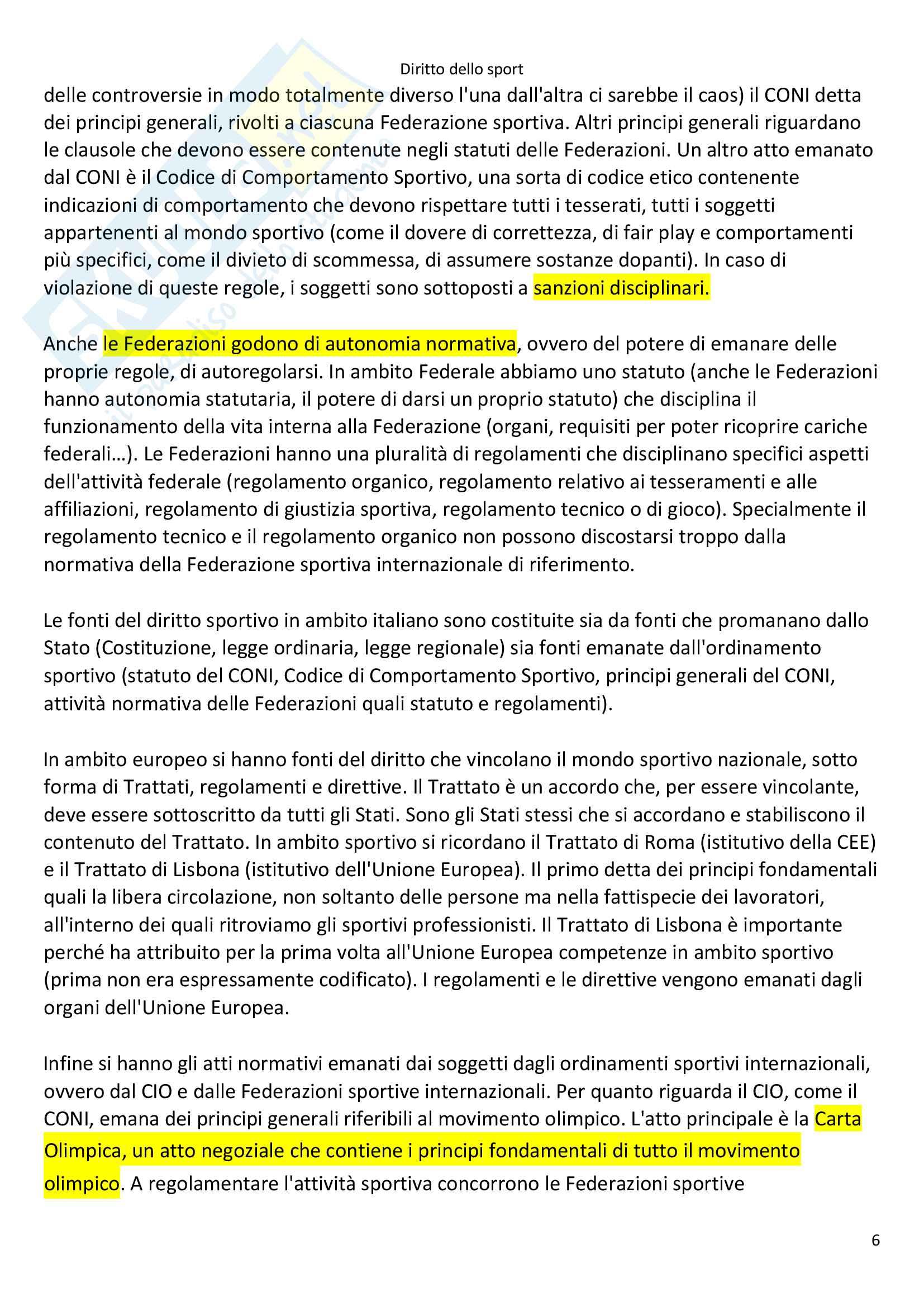 Appunti Diritto dello Sport Pag. 6