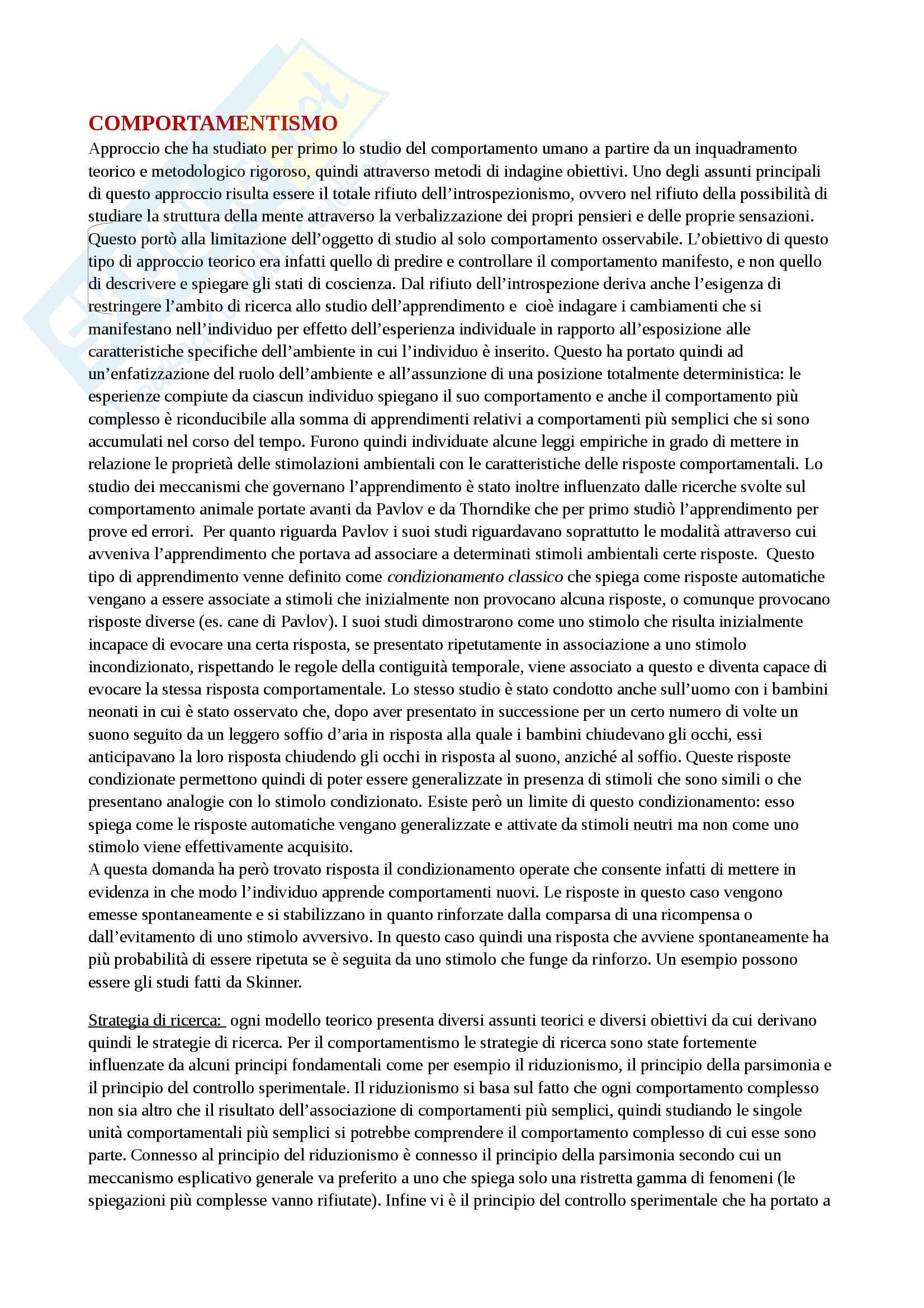 """Riassunto esame Psicologia dello Sviluppo Cognitivo, prof.ssa Simion, libro consigliato """"Macchi Cassia V., Valenza E., Simion F., Lo sviluppo della mente umana"""""""
