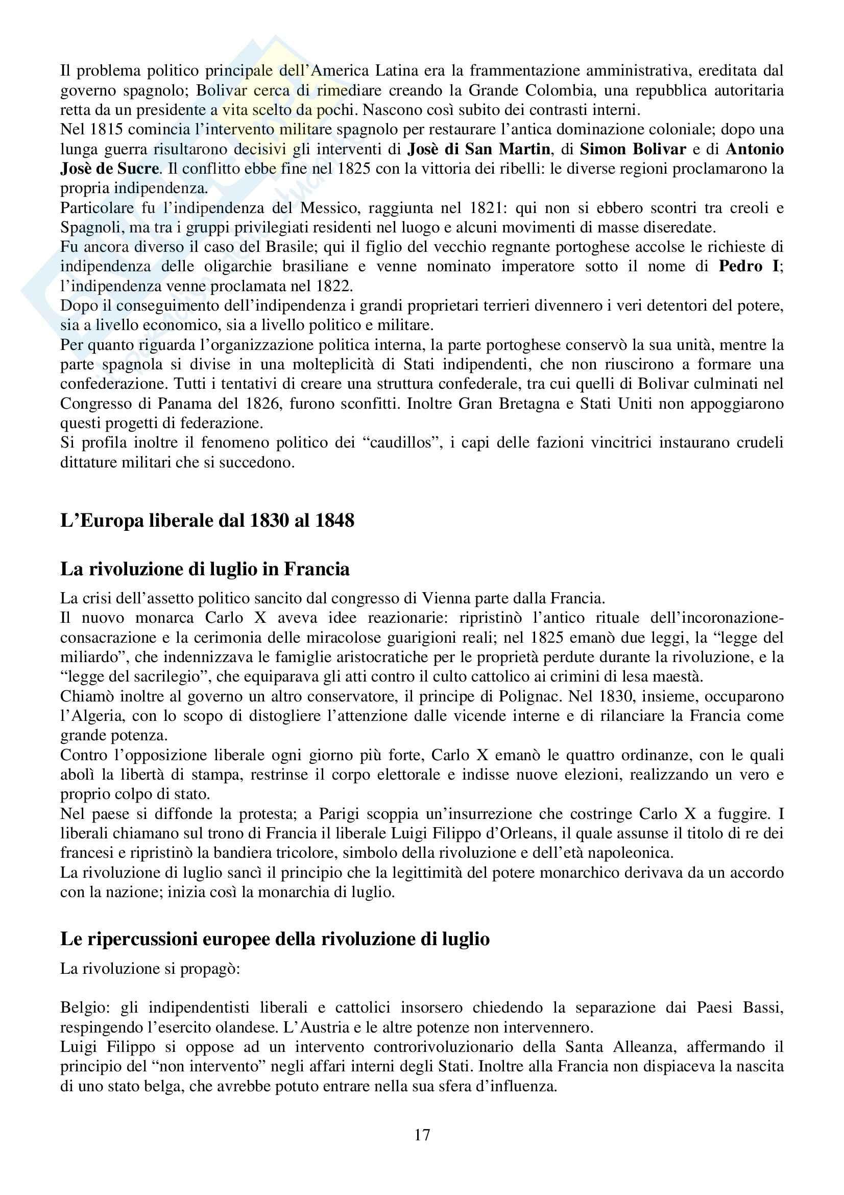 Riassunto esame Storia Contemporanea, prof. Silvio, libro consigliato Ottocento e Novecento, Sabbatucci, Vidotto Pag. 16