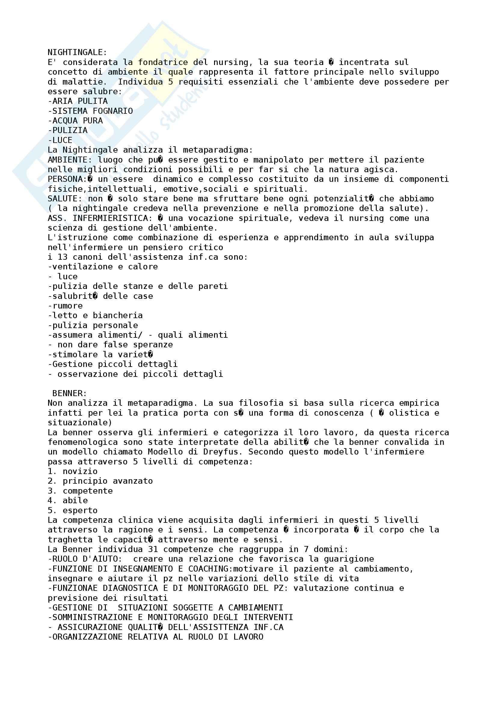 Infermieristica generale - Appunti
