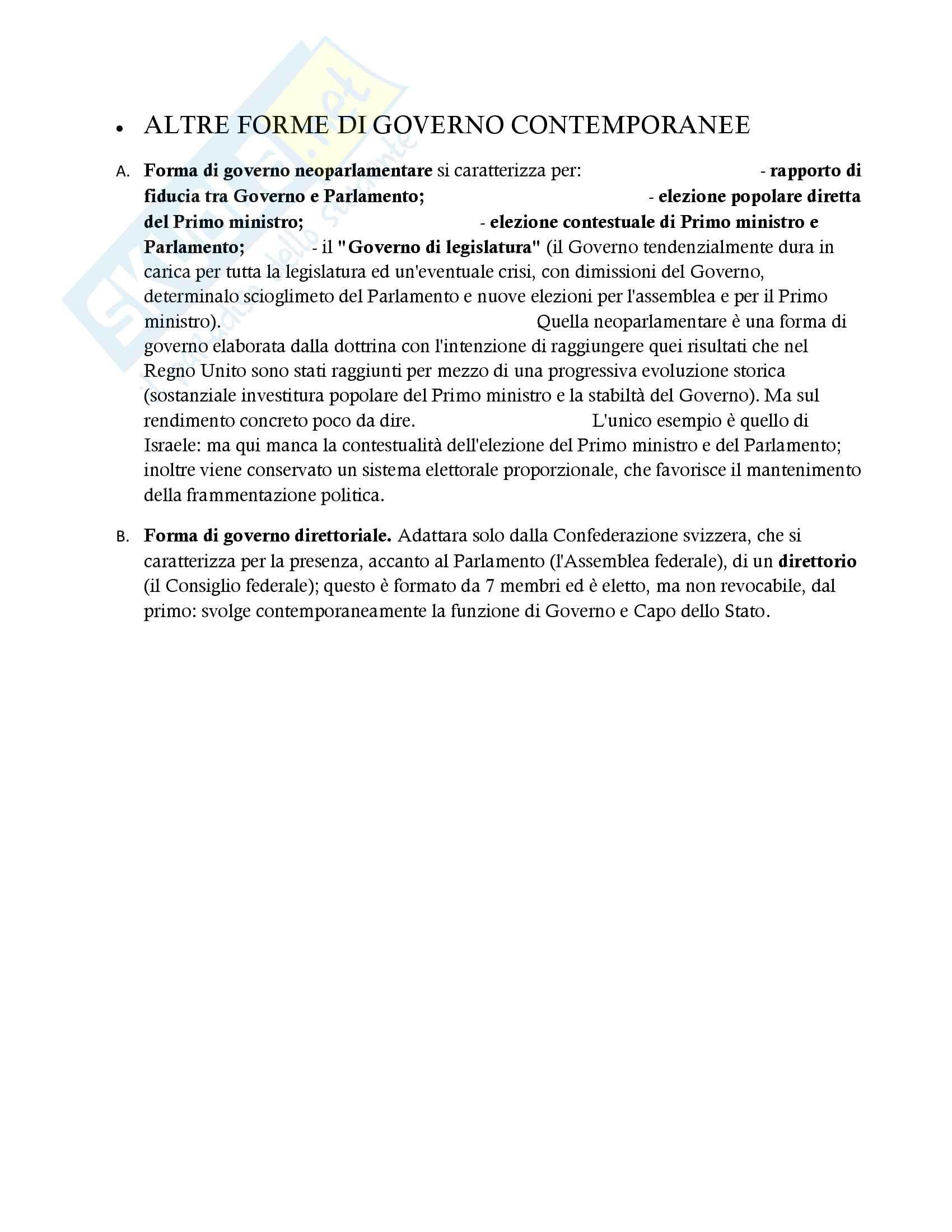 Appunti e riassunti completi per preparare l'esame di diritto costituzionale