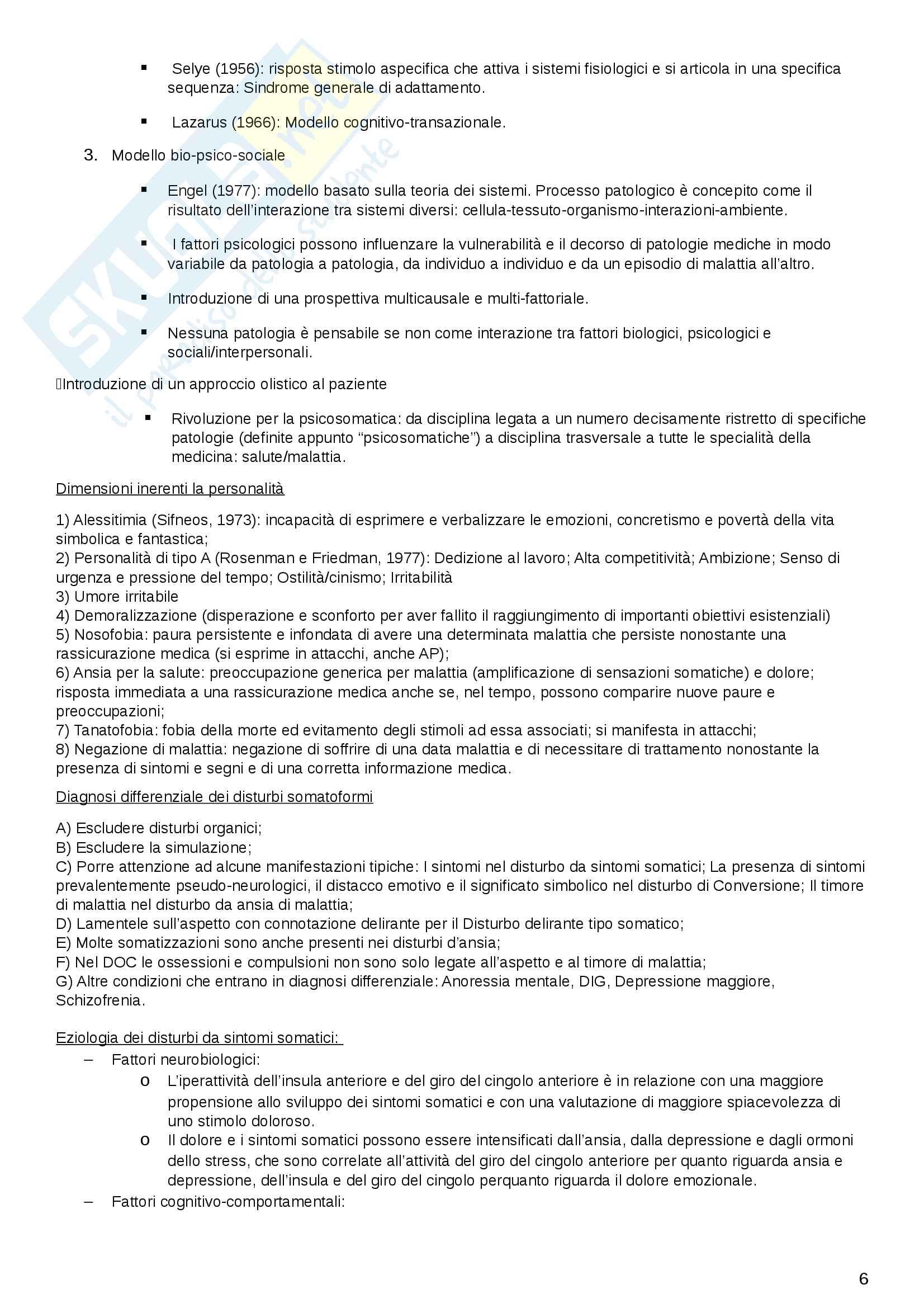 Riassunto DSM-V: disturbi e criteri Pag. 6