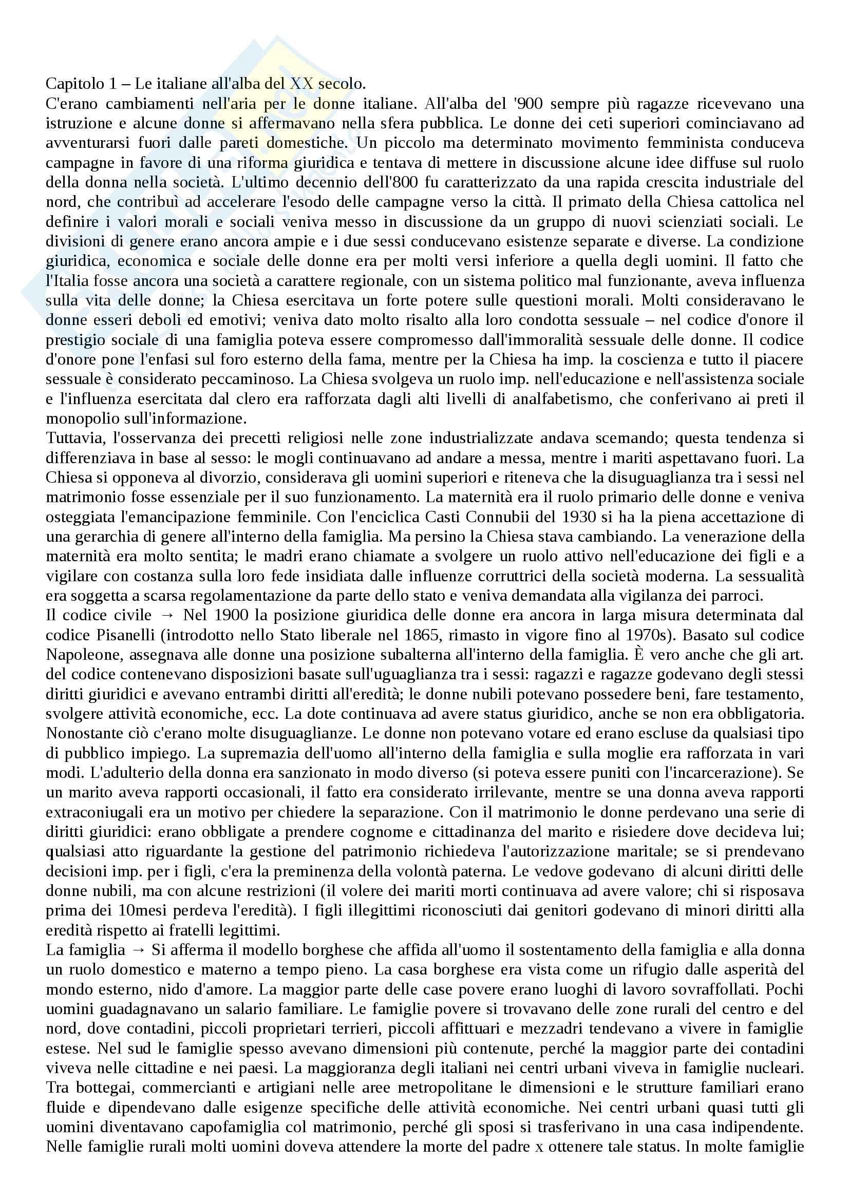 Riassunto esame Storia contemporanea, prof. Soldani, libro consigliato Italiane. Biografia del Novecento, Wilson