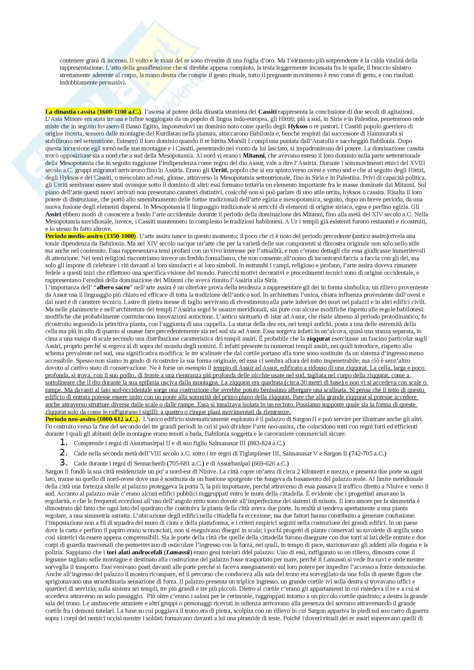 Riassunto esame Archeologia del vicino Oriente Antico, prof. Rova, libro consigliato Atlante della Mesopotamia e dell'Antico Vicino Oriente, Roaf Pag. 11