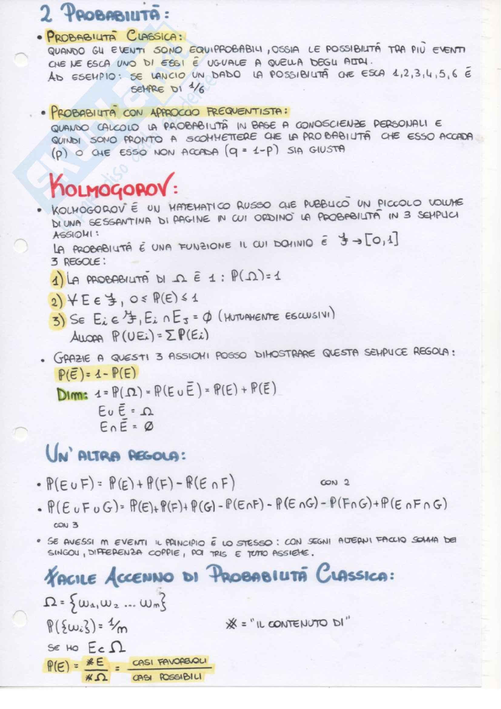 Probabilità e Statistica - Appunti Pag. 46