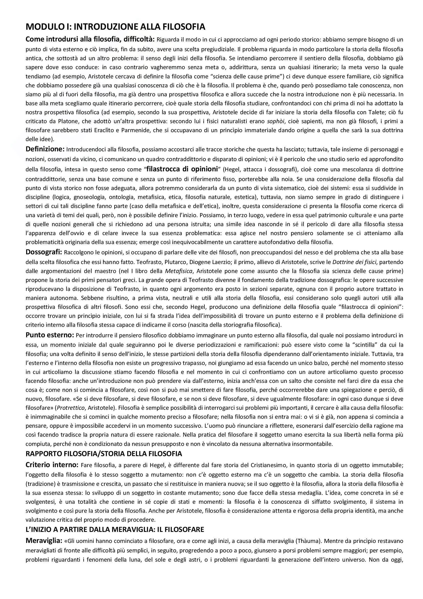 Storia della Filosofia antica, Appunti - Massimiliano Marianelli