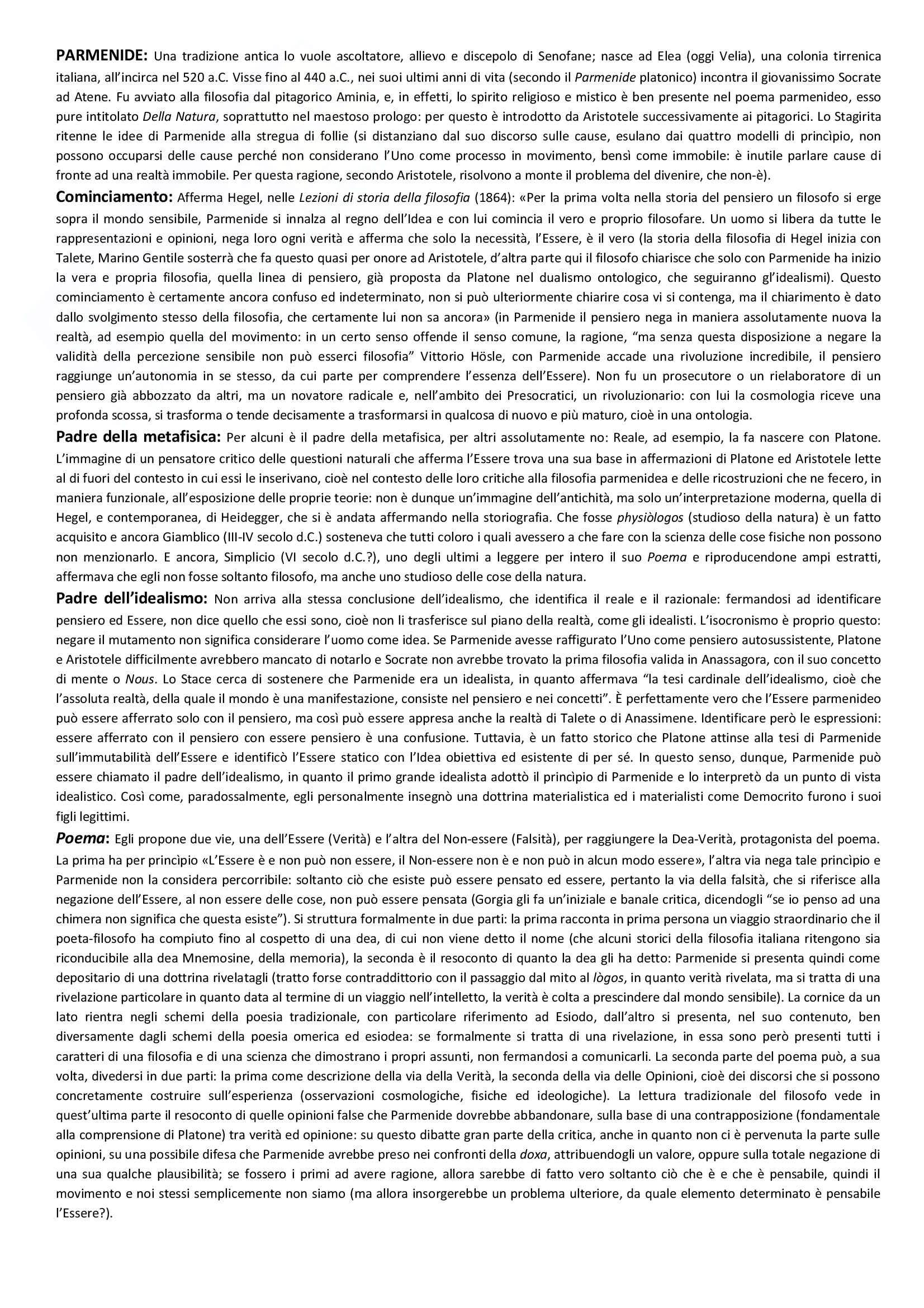 Storia della Filosofia antica, Appunti - Massimiliano Marianelli Pag. 11