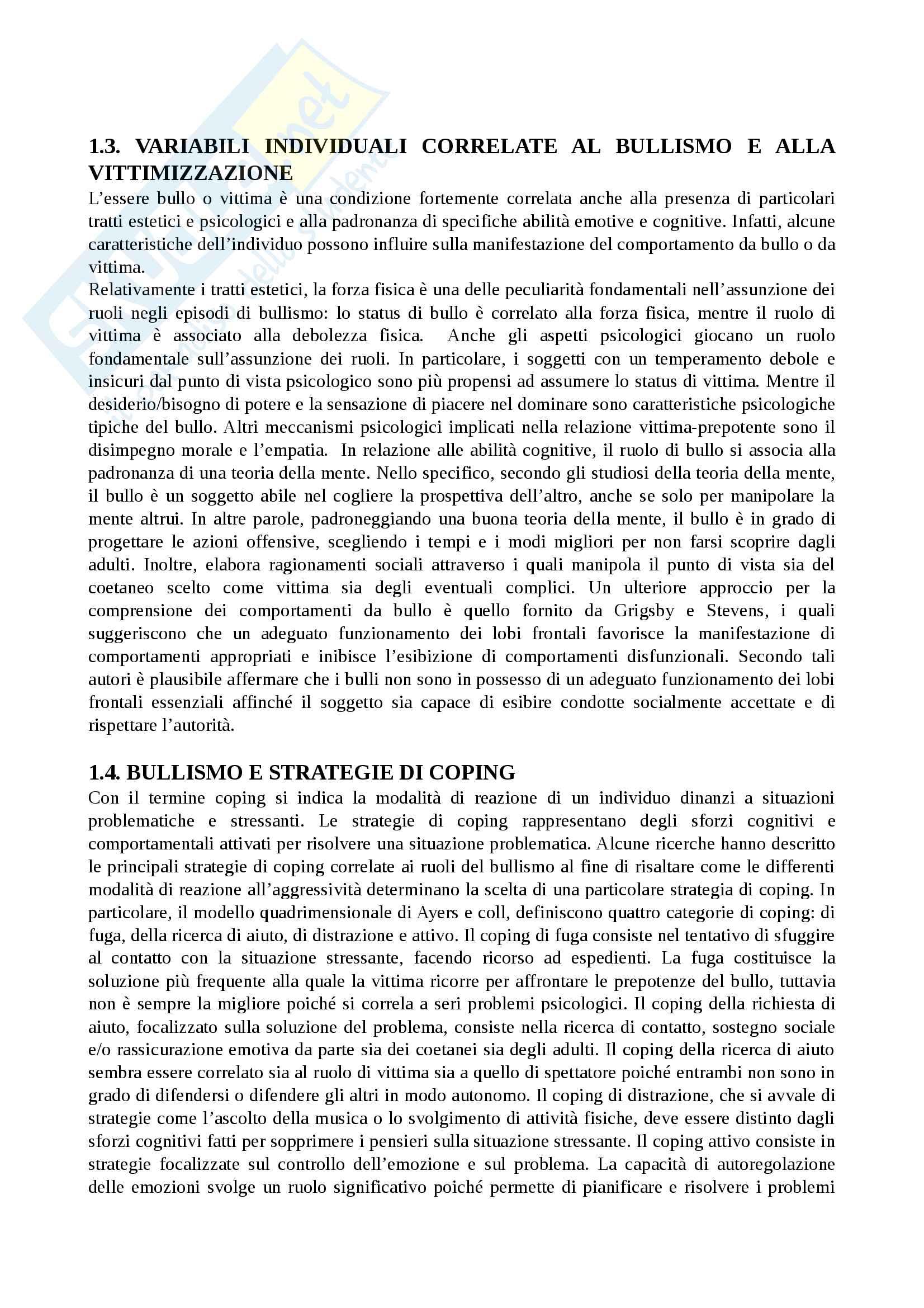 Riassunto esame pedagogia clinica, prof Karin Bagnato, libro consigliato Valutazione e trattamento dei disturbi del comportamento , Pina Filippello Pag. 61