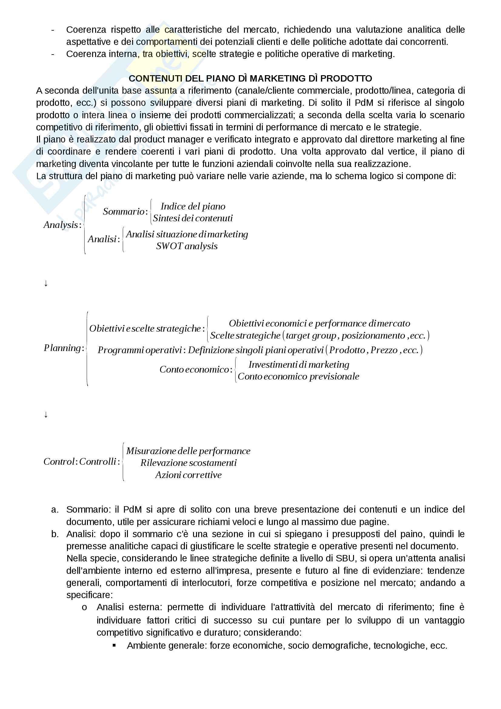 """Riassunto esame Marketing, docente Gian Luca Gregori, libro consigliato Marketing e creazione del valore"""", a cura di Giancarlo Ferrero Pag. 131"""