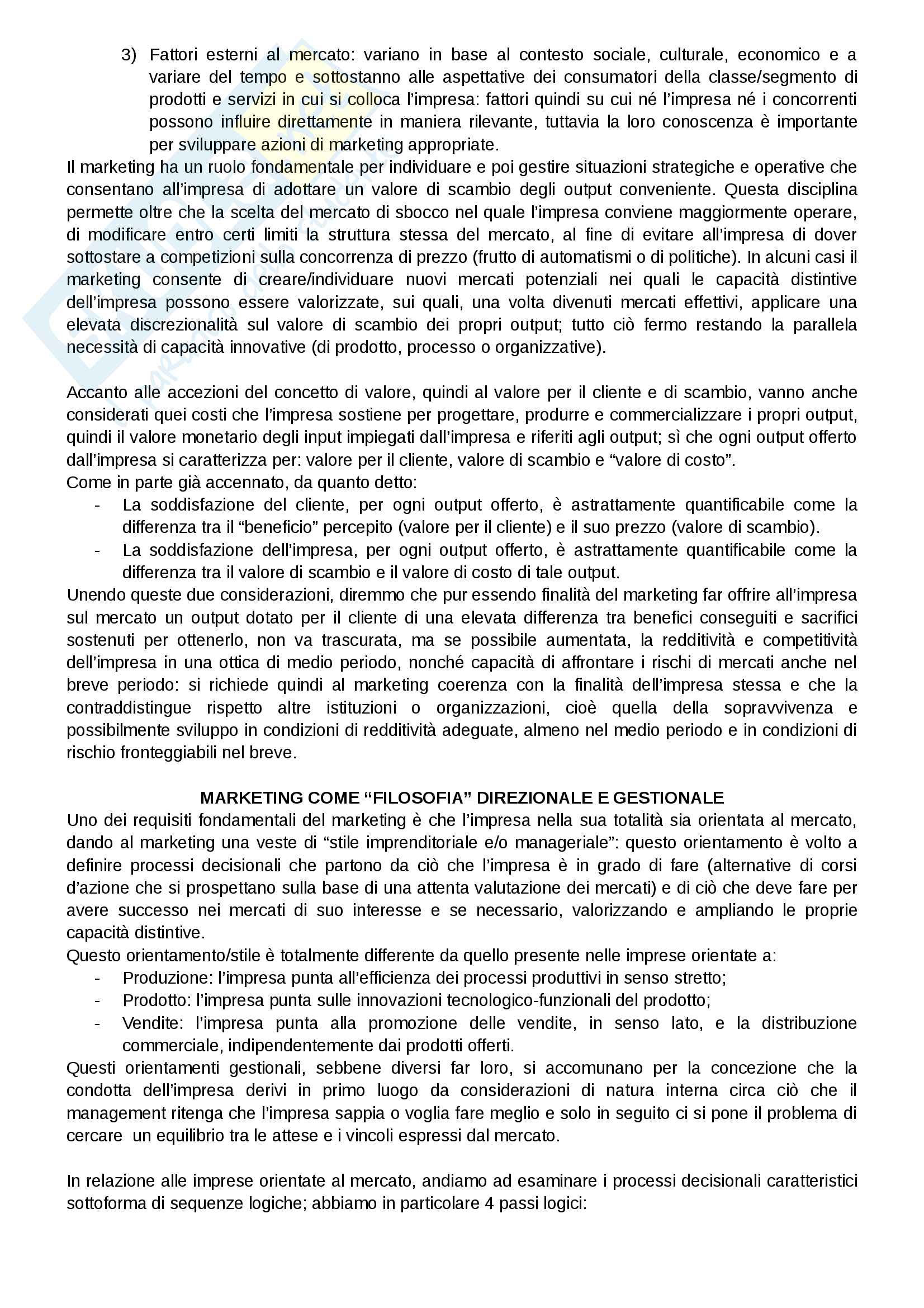 """Riassunto esame Marketing, docente Gian Luca Gregori, libro consigliato Marketing e creazione del valore"""", a cura di Giancarlo Ferrero Pag. 2"""