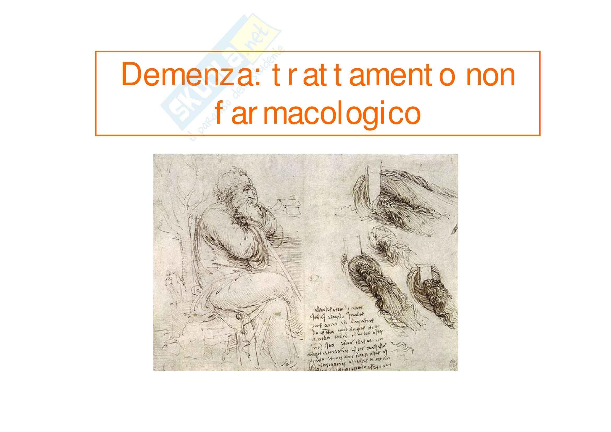 Scienze psichiatriche - Trattamento non farmacologico demenze