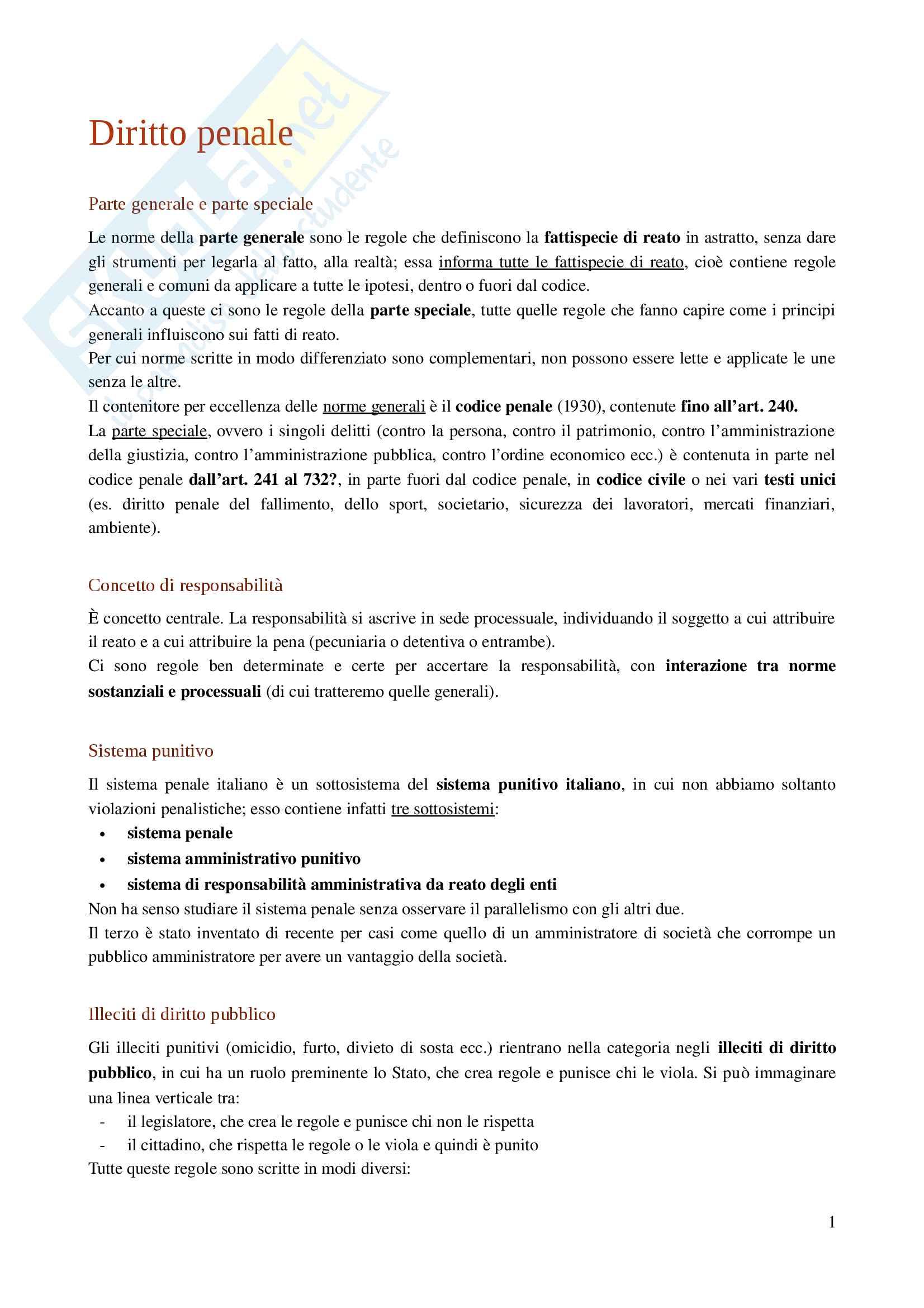 appunto A. Rossi Diritto penale