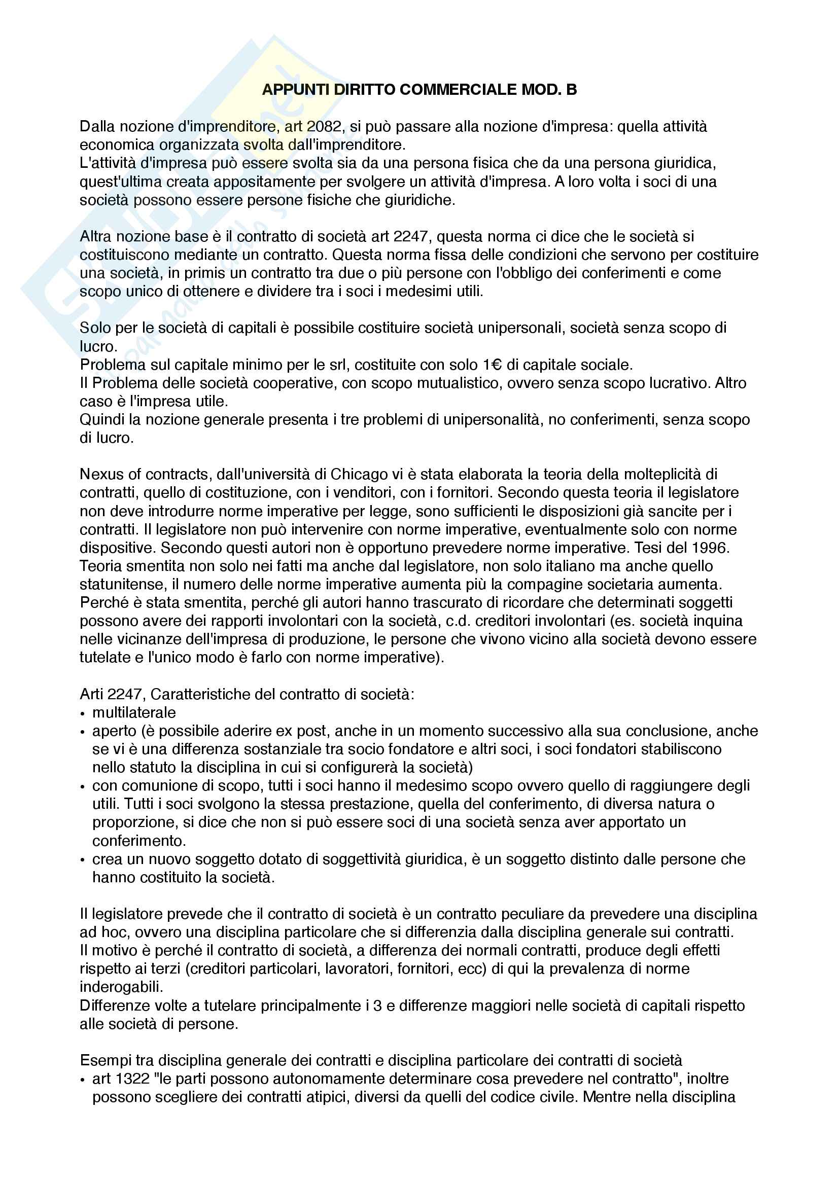 Appunti commerciale mod b