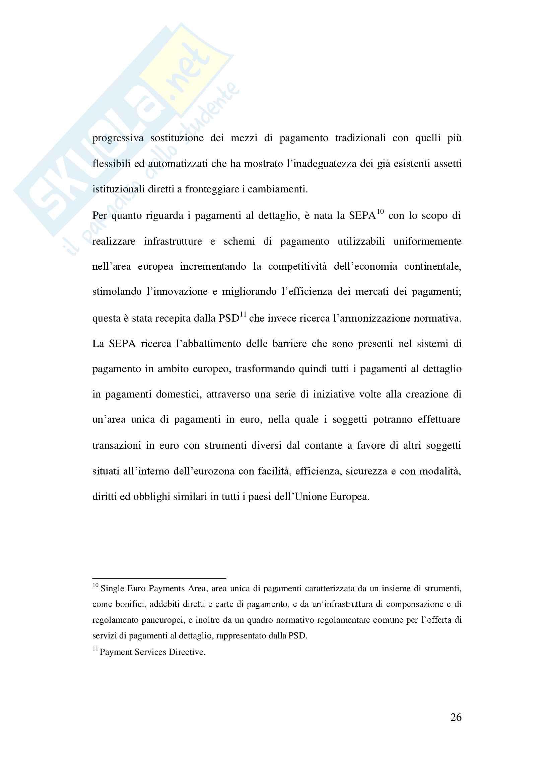 Tesi evoluzione sistemi di pagamento Pag. 26