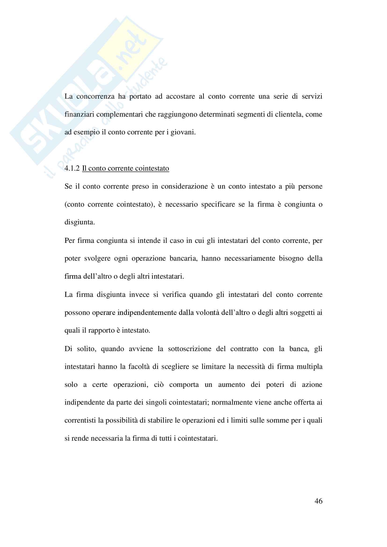 Tesi evoluzione sistemi di pagamento Pag. 46