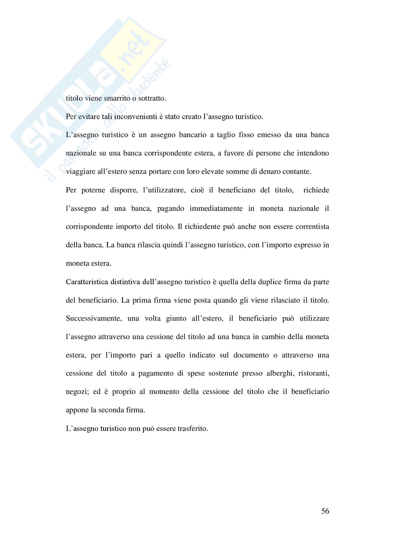 Tesi evoluzione sistemi di pagamento Pag. 56