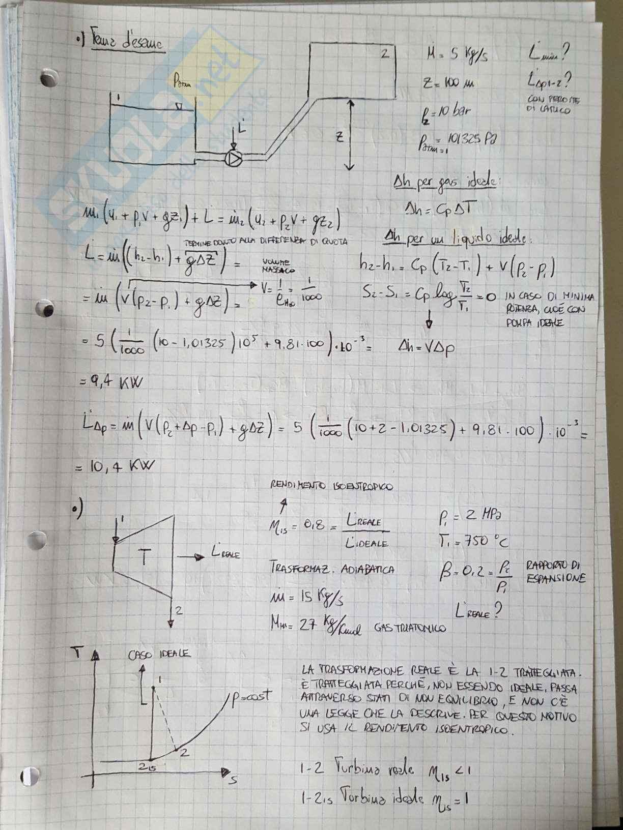 Appunti di Fisica Tecnica - Esercizi Pag. 11