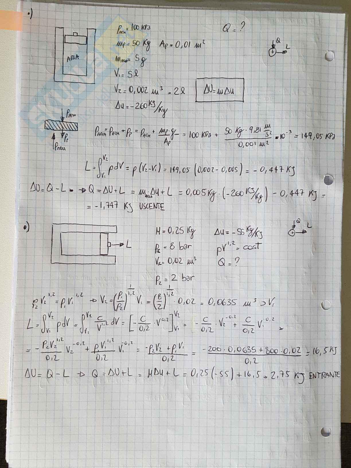 Appunti di Fisica Tecnica - Esercizi Pag. 2
