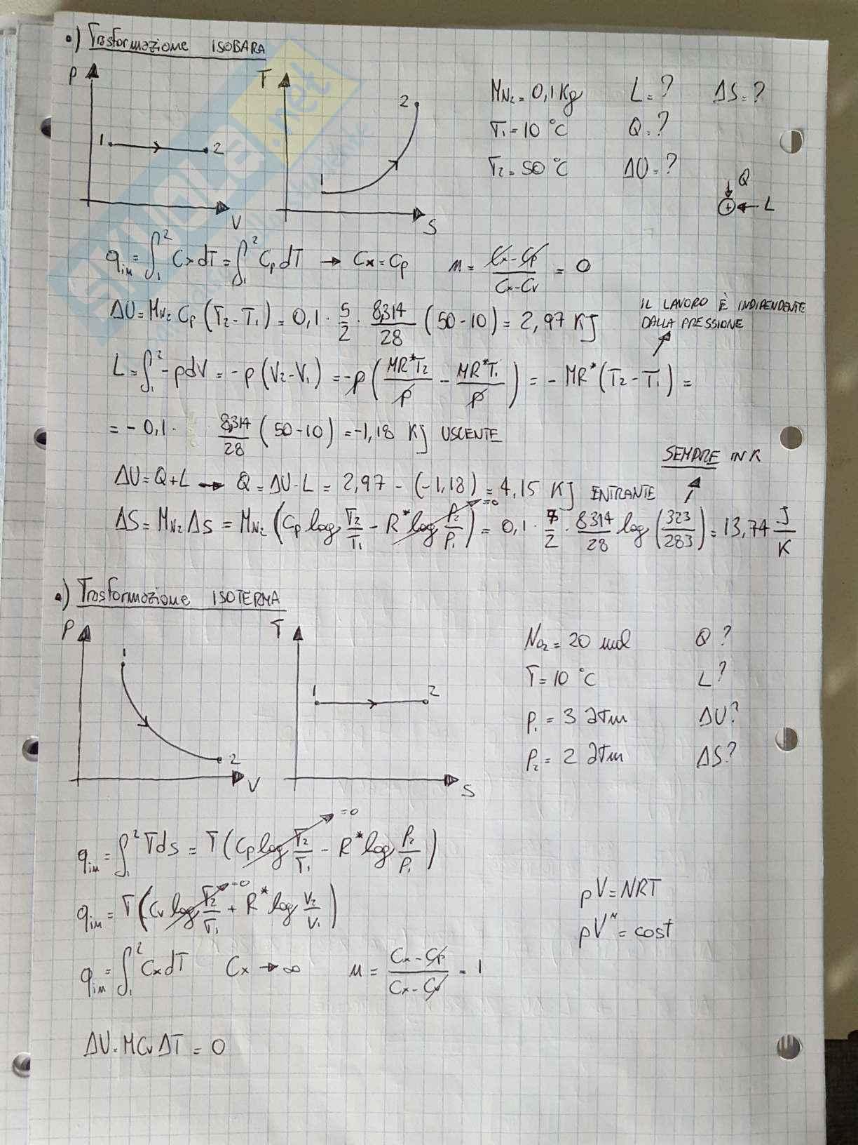 Appunti di Fisica Tecnica - Esercizi Pag. 6