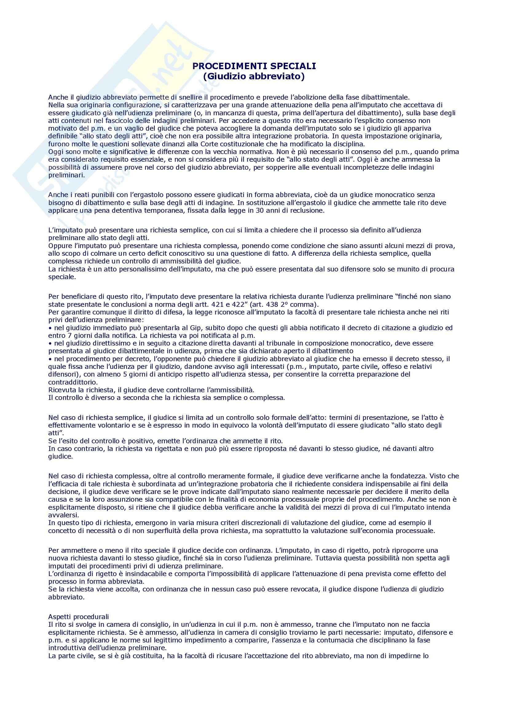 Procedura penale - Schemi e sunti, prof. Della Casa Pag. 2