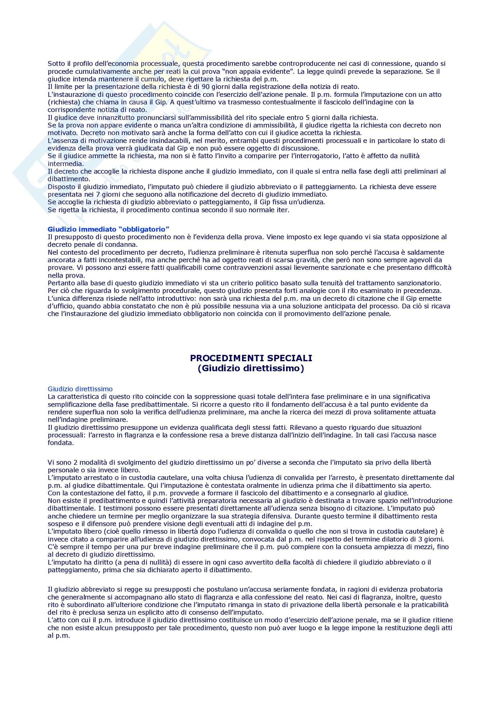 Procedura penale - Schemi e sunti, prof. Della Casa Pag. 6