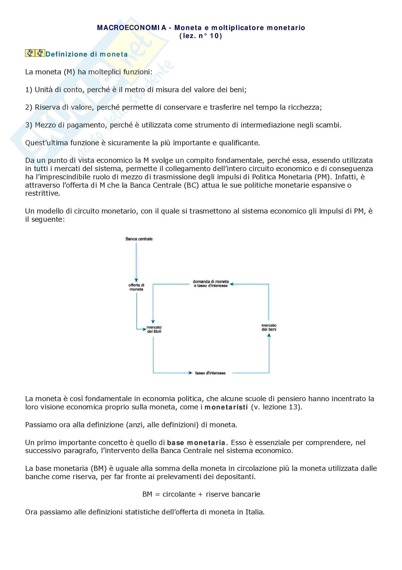 appunto M. Bevolo Economia politica