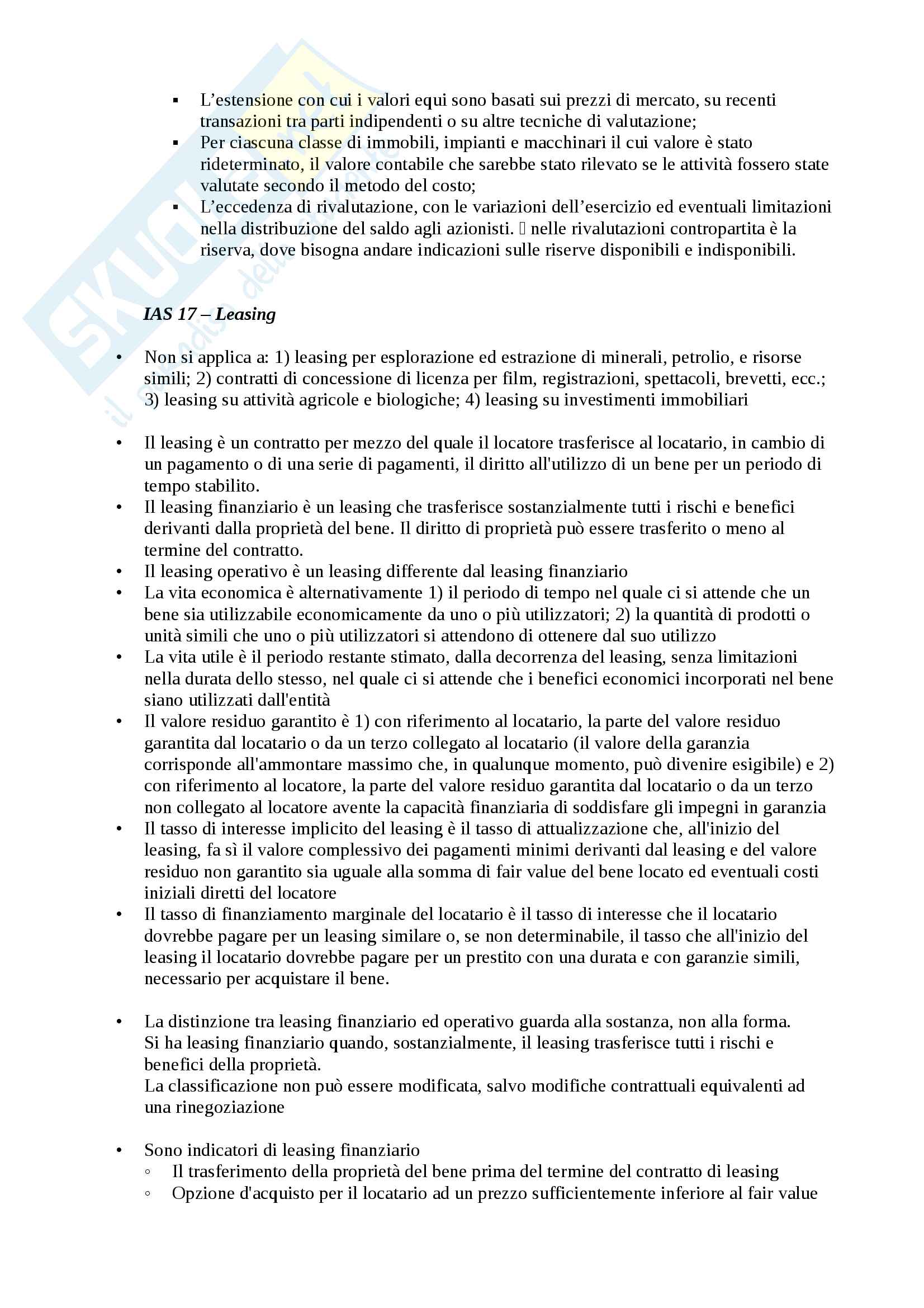 Sintesi schematica di International Accounting (Progredito) Pag. 11