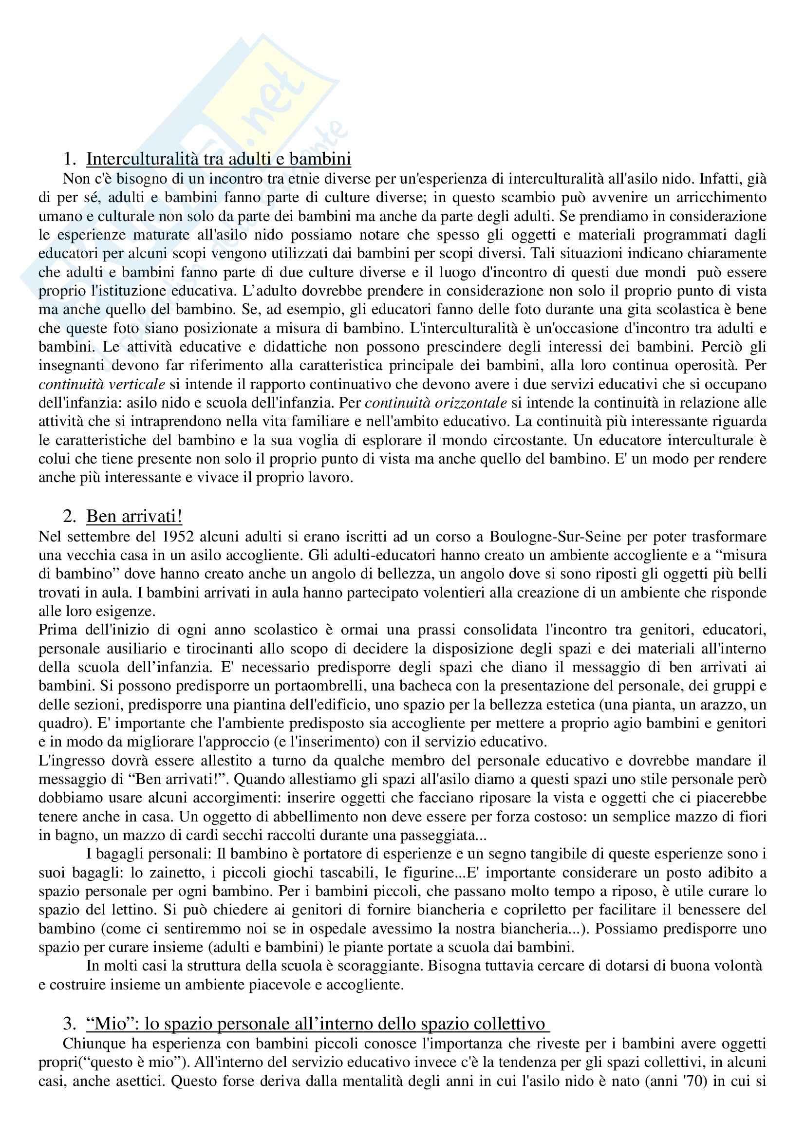 Riassunto esame Attività Ludiche e di Animazione Educativa, prof. Staccioli, libro consigliato Cosa Faremo da Piccoli di Ritscher