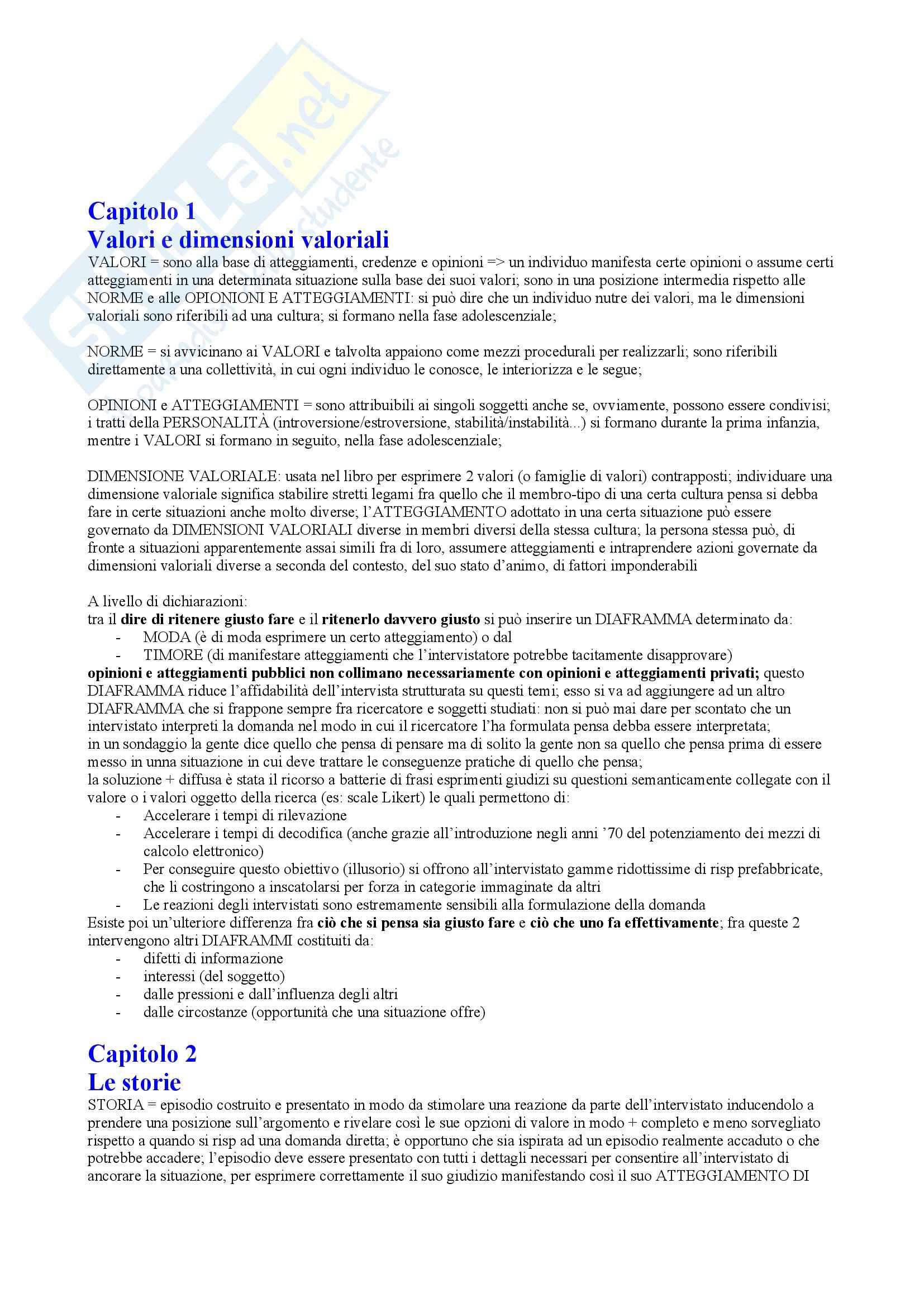 Riassunto esame Laboratorio degli Strumenti di Ricerca, prof. Marradi, libro consigliato Raccontar Storie, Marradi