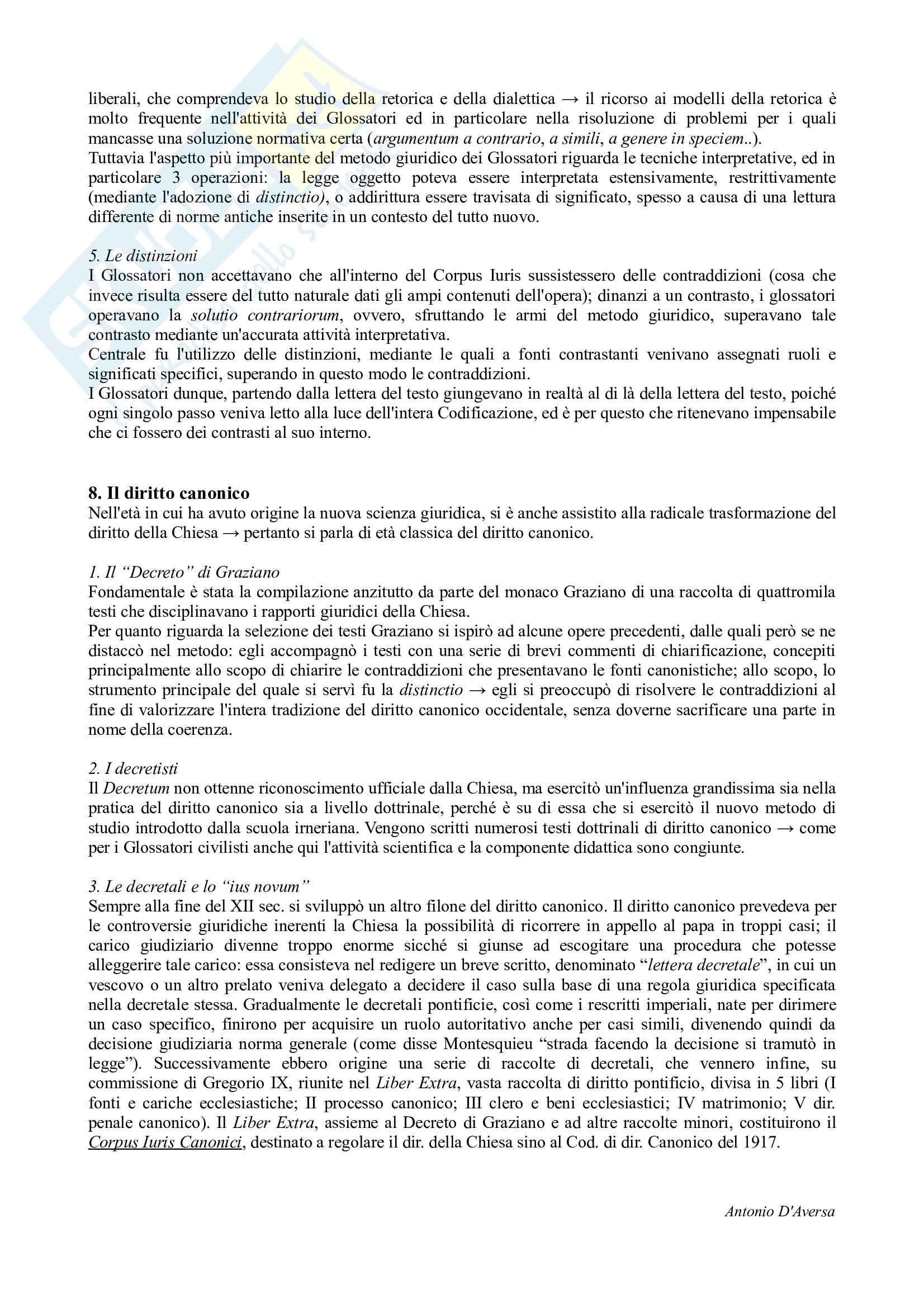 Riassunto esame Storia del Diritto Medievale e Moderno, prof. Cassi, libro consigliato Storia del Diritto in Europa, Padoa Schioppa Pag. 2
