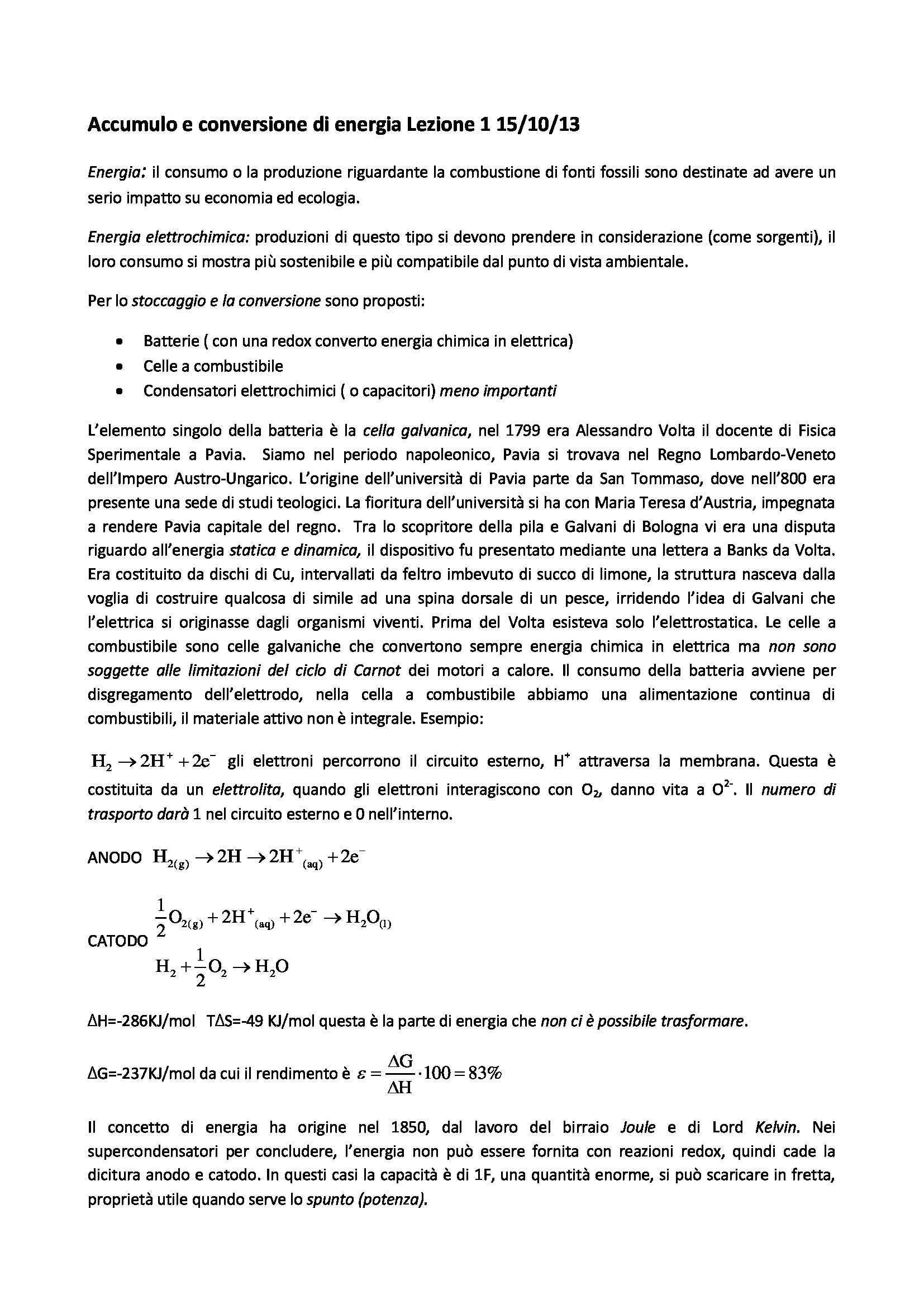 appunto A. Magistris Accumulo e conversione di energia