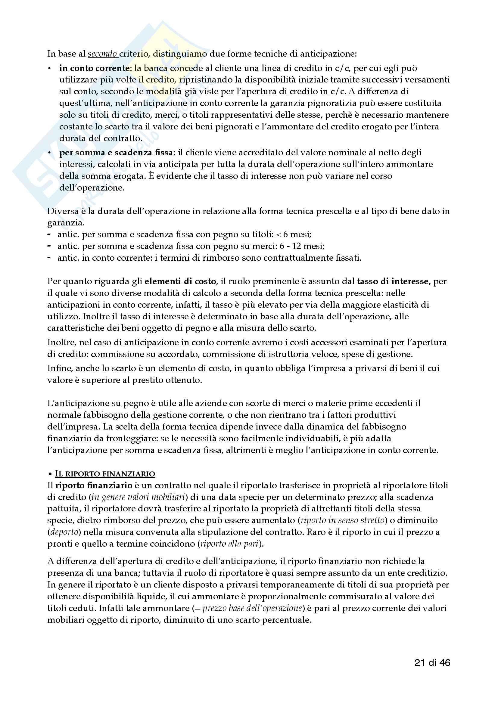 Economia delle aziende di credito - 1 Pariziale pdf Pag. 21