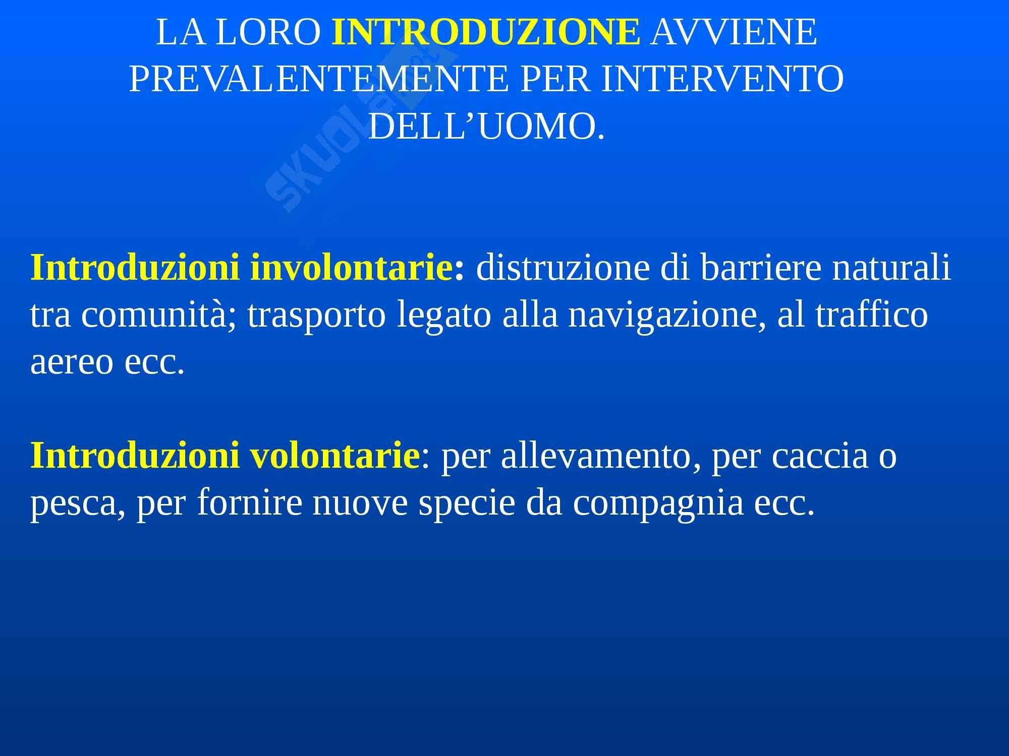 Zoologia - Le specie alloctone Pag. 2