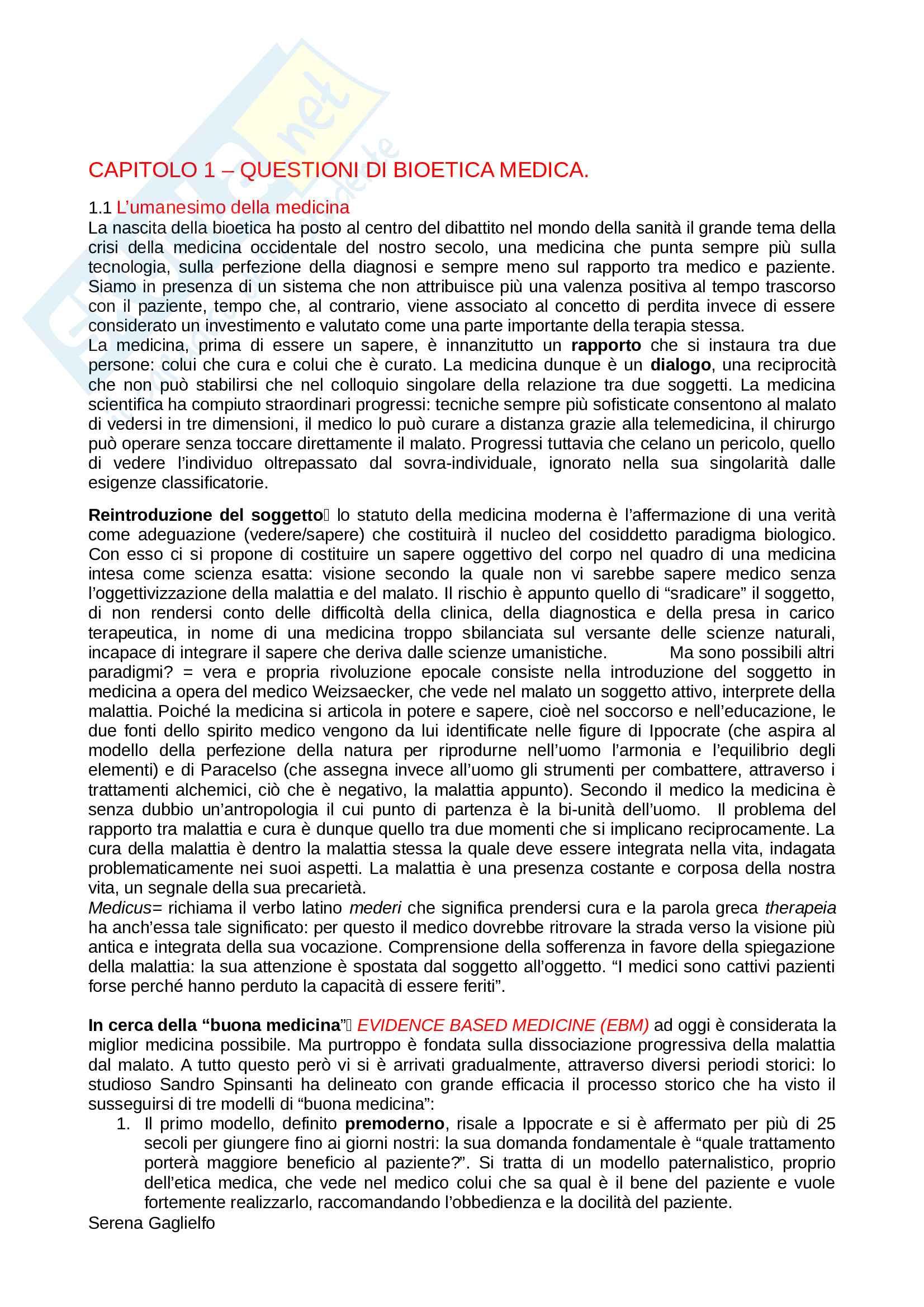 Riassunto esame Filosofia Morale, prof. Battaglia, libro consigliato Un'Etica per il Mondo Vivente