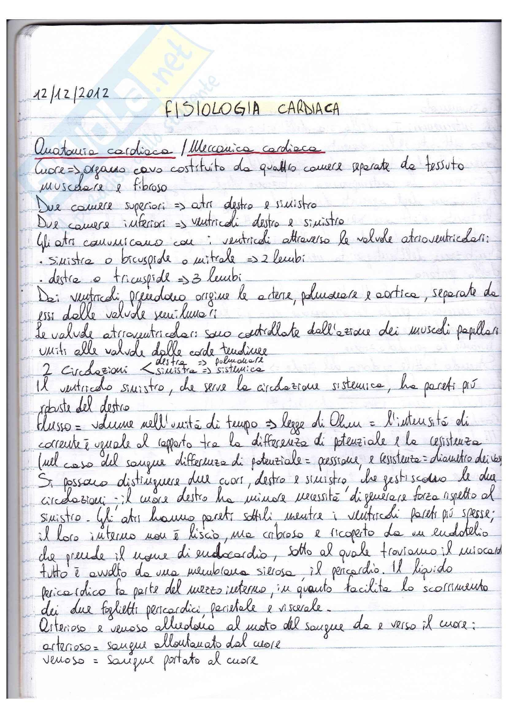 Riassunto esame Fisiologia, prof. Macaluso, libro Fisiologia, Vander, Costill: parte II