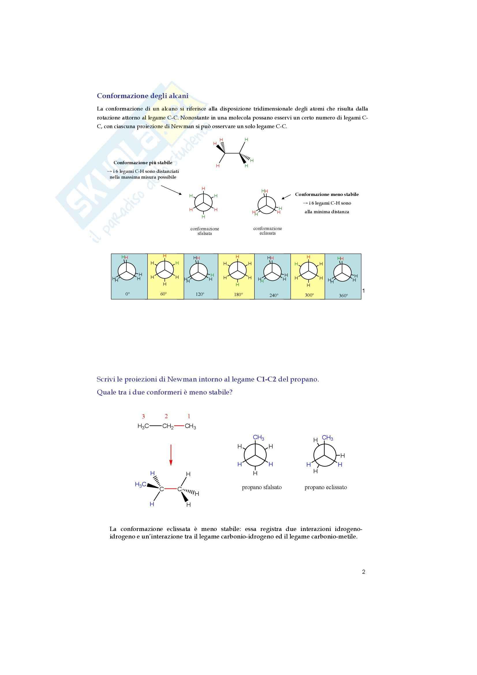 Chimica organica - alcani e cicloalcani