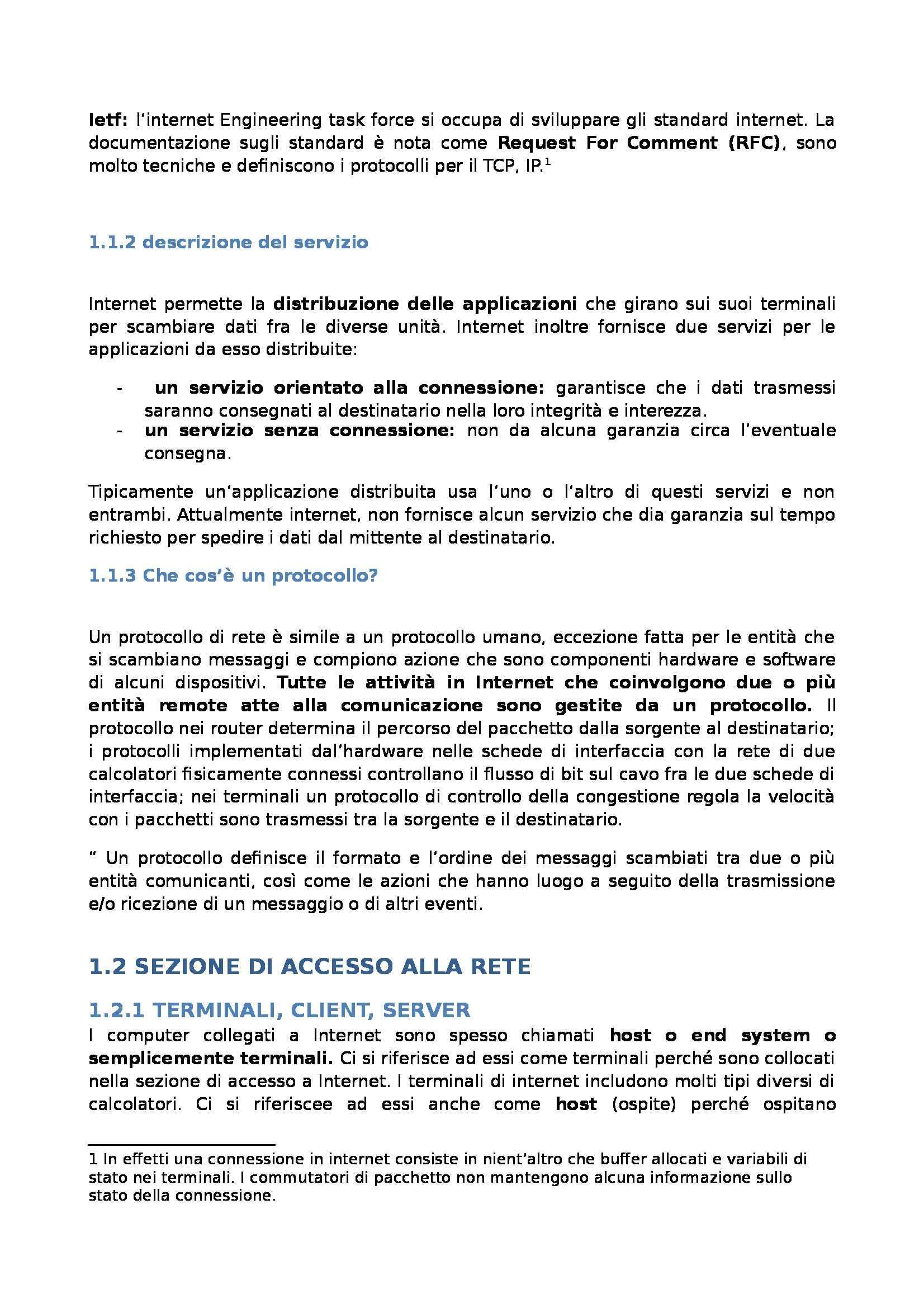 Reti dei calcolatori - Appunti Pag. 2