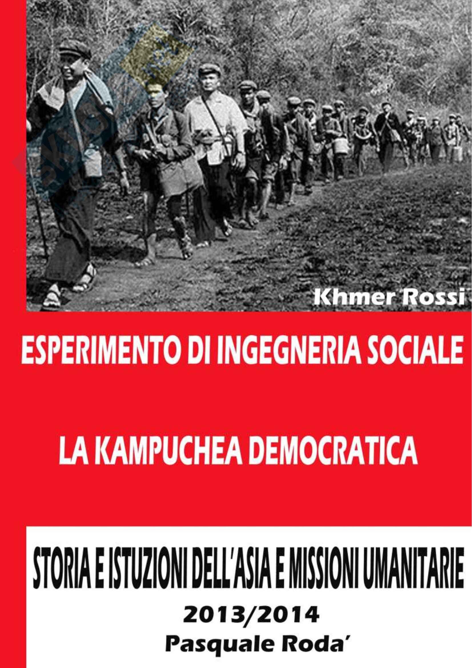 Storia dell'asia e missioni umanitarie - esperimento di ingegneria sociale Pag. 1