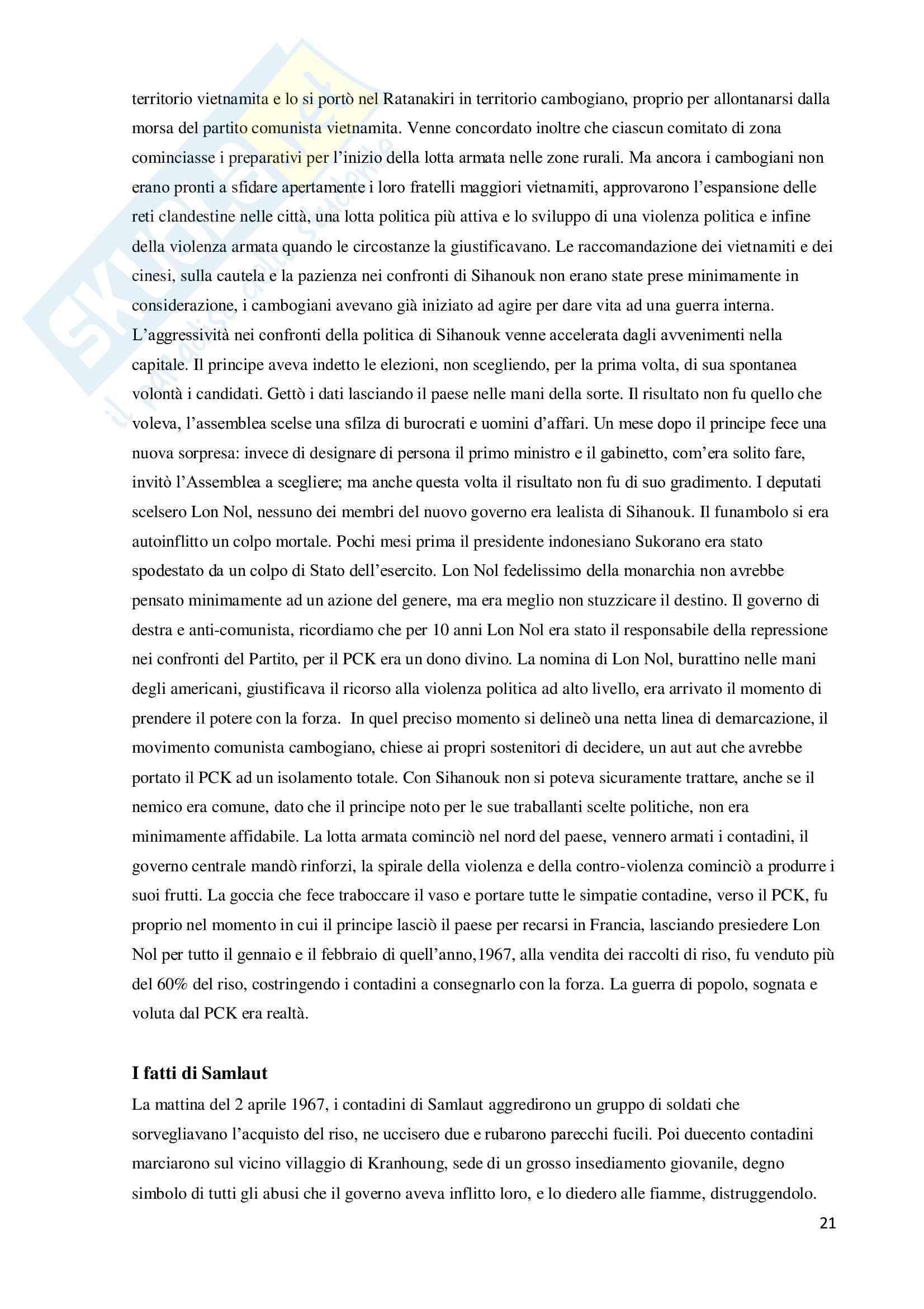 Storia dell'asia e missioni umanitarie - esperimento di ingegneria sociale Pag. 21