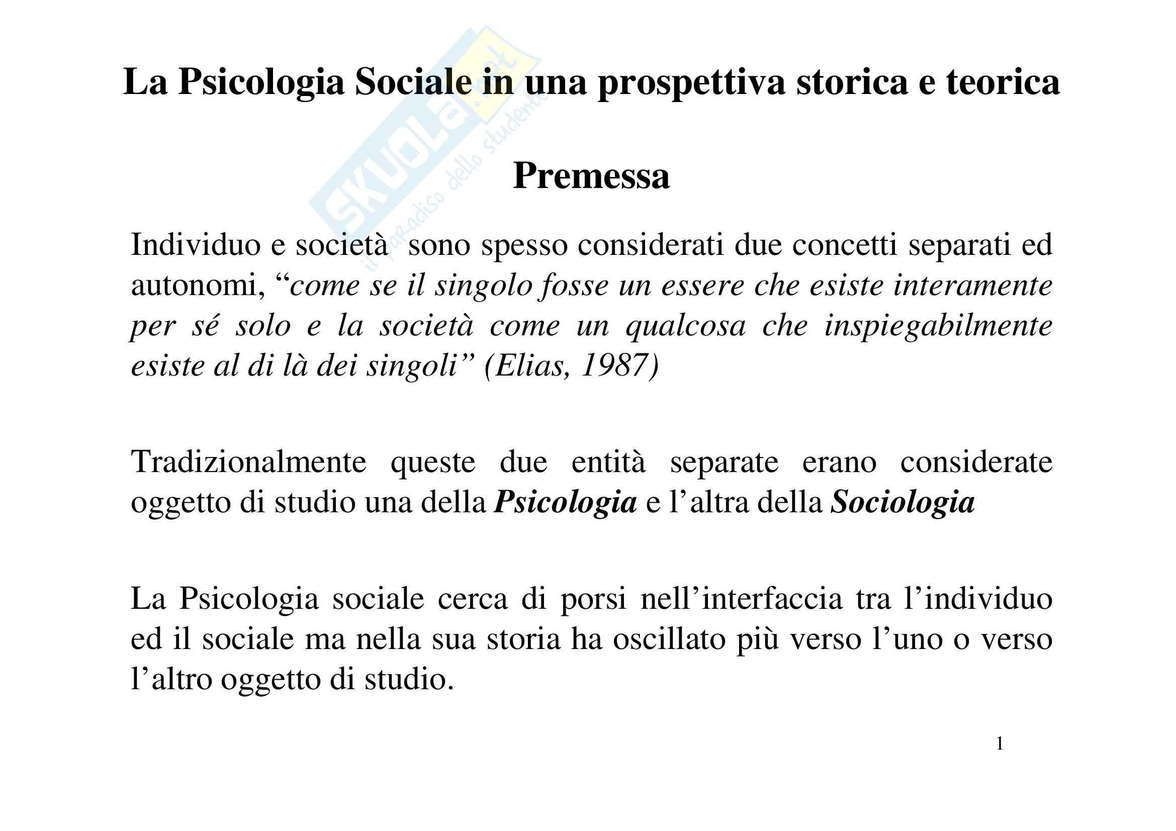 Psicologia sociale - approcci