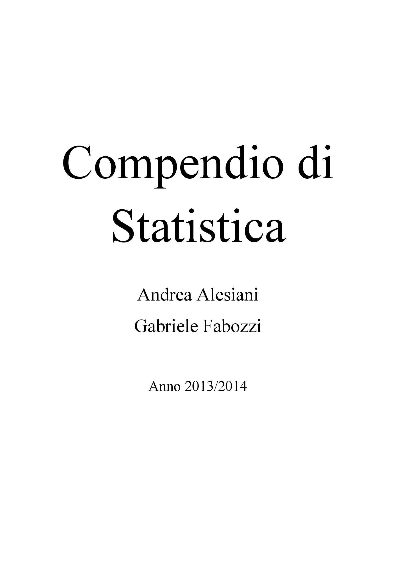 appunto F. Lagona Statistica e calcolo delle probabilità