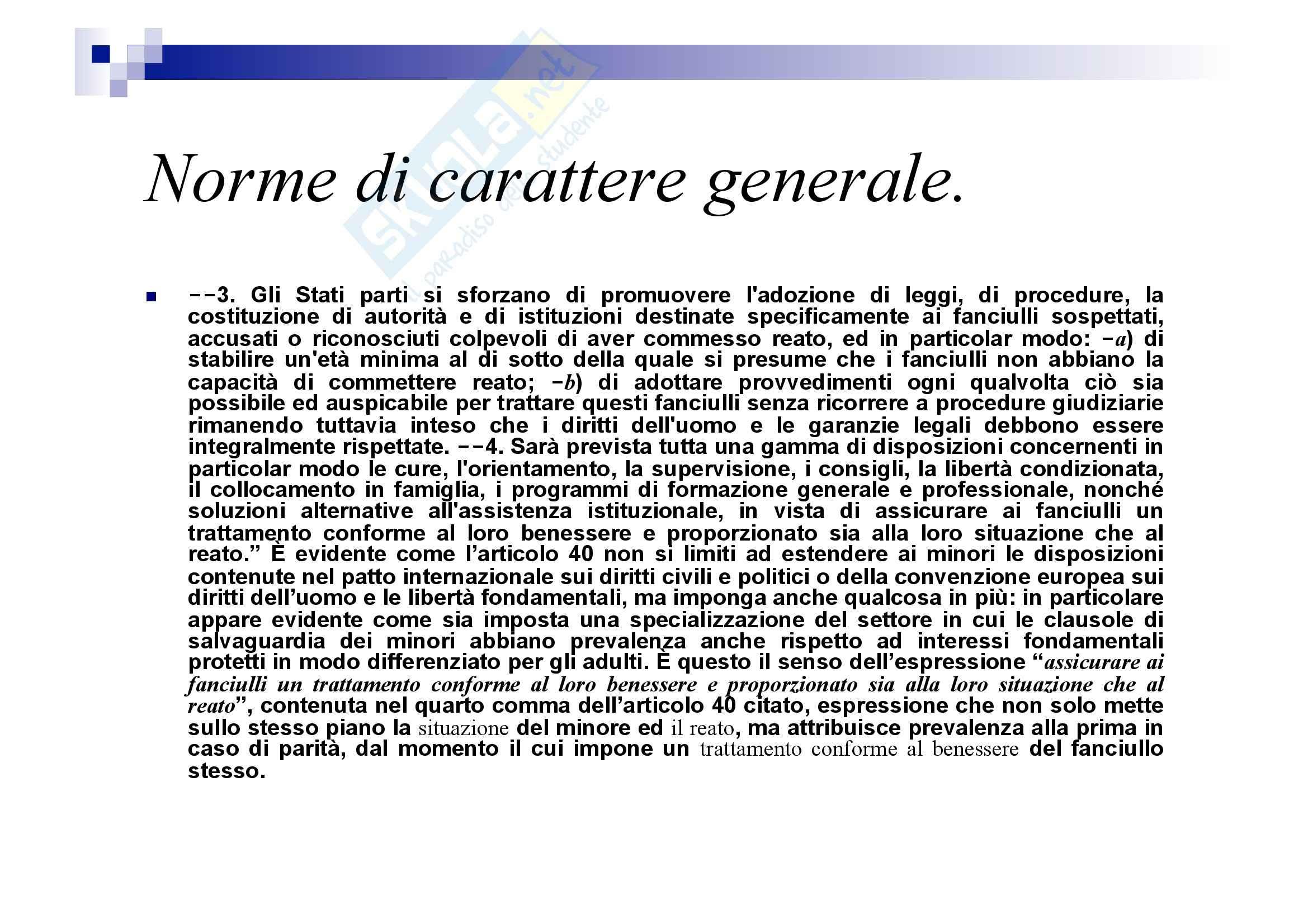 Processo penale minorile - elementi del processo penale minorile Pag. 11