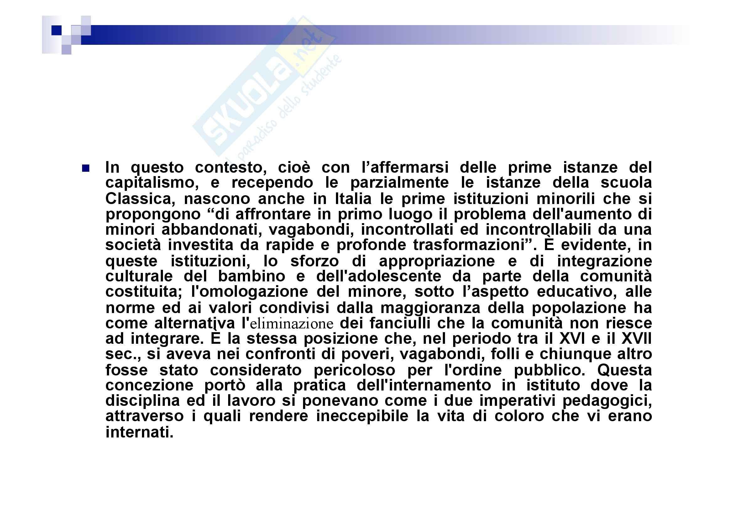 Processo penale minorile - elementi del processo penale minorile Pag. 36