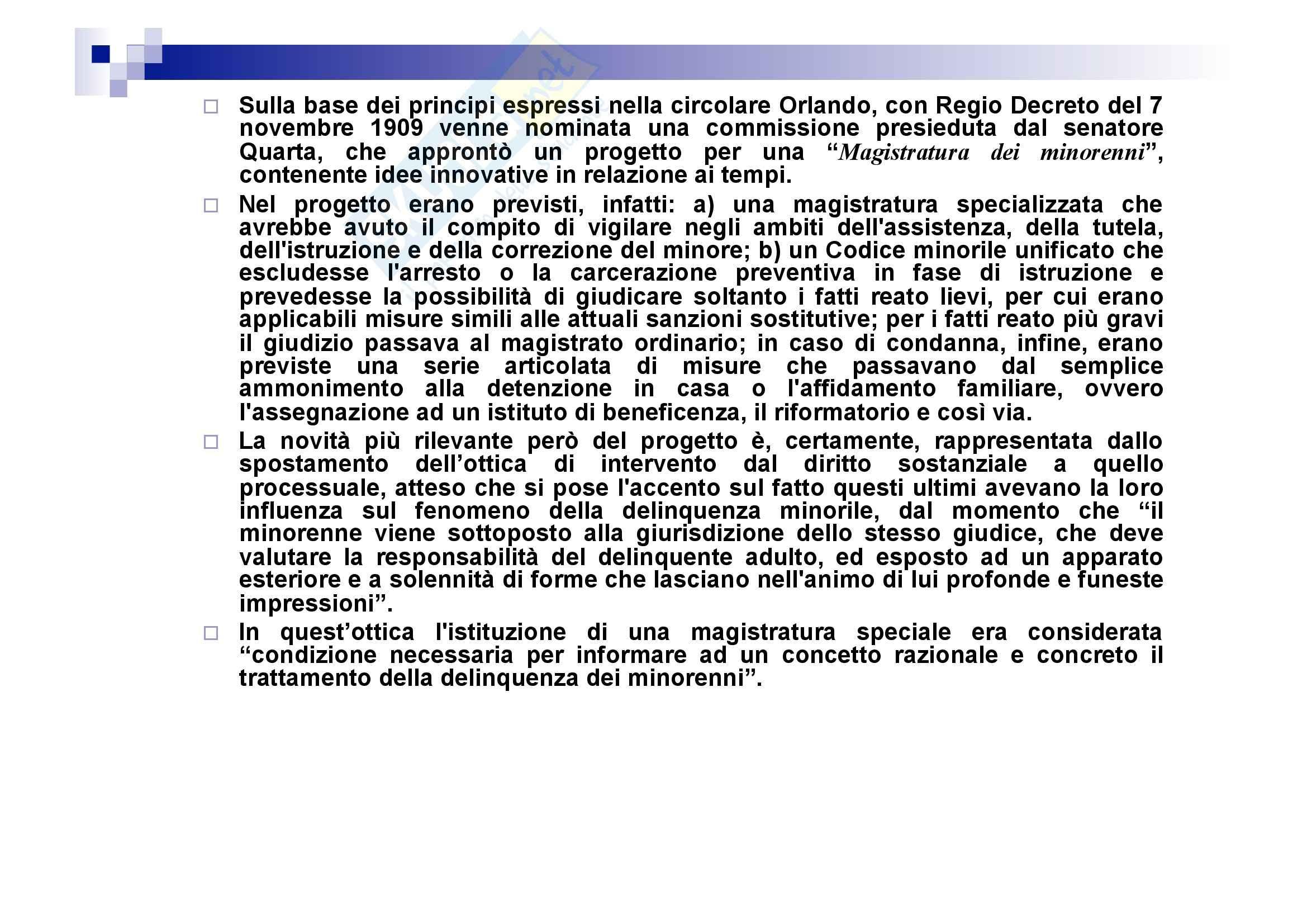 Processo penale minorile - elementi del processo penale minorile Pag. 51