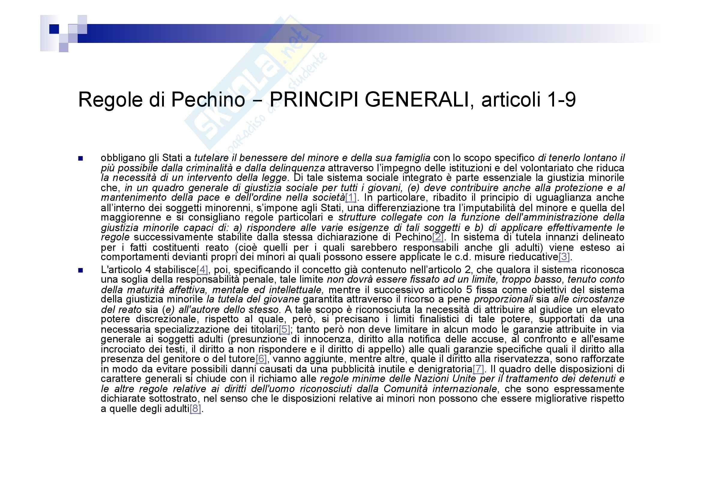 Processo penale minorile - elementi del processo penale minorile Pag. 66