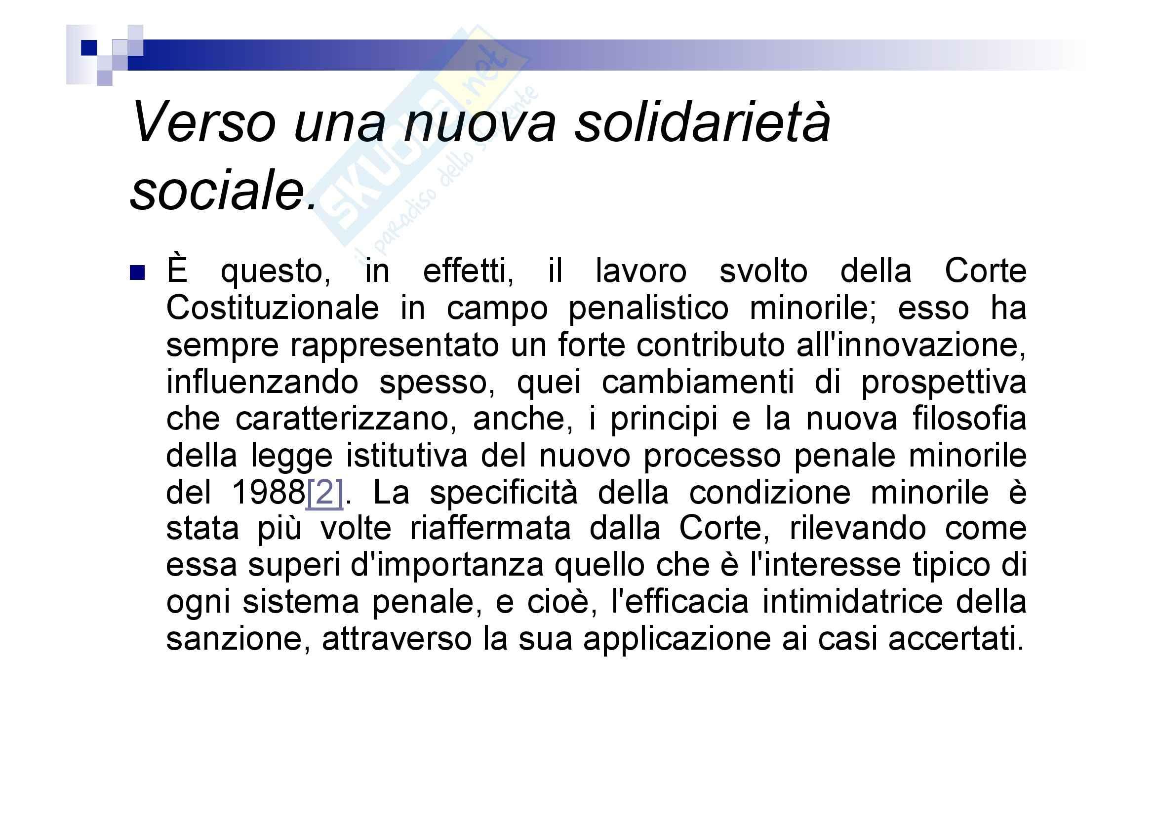 Processo penale minorile - elementi del processo penale minorile Pag. 91