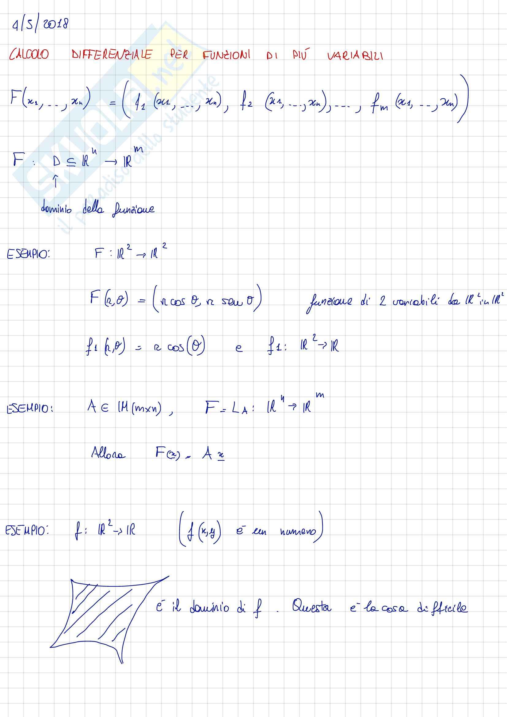 Limiti e Calcolo Differenziale per Funzioni in Più Variabili