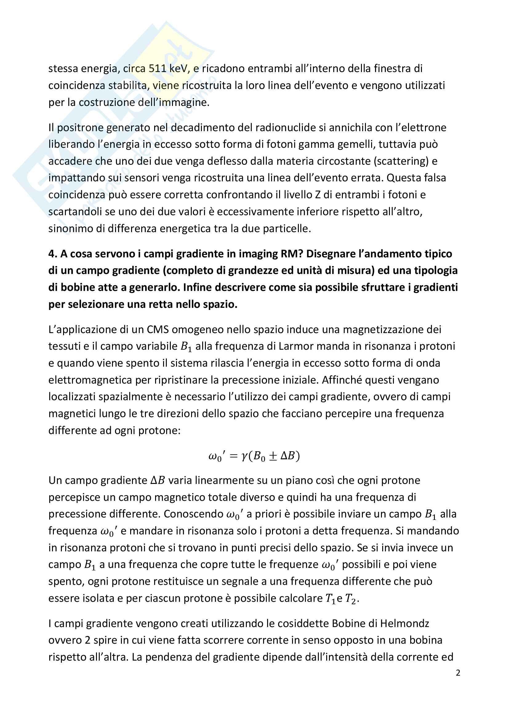 Domande d'esame Bioimmagini Pag. 2